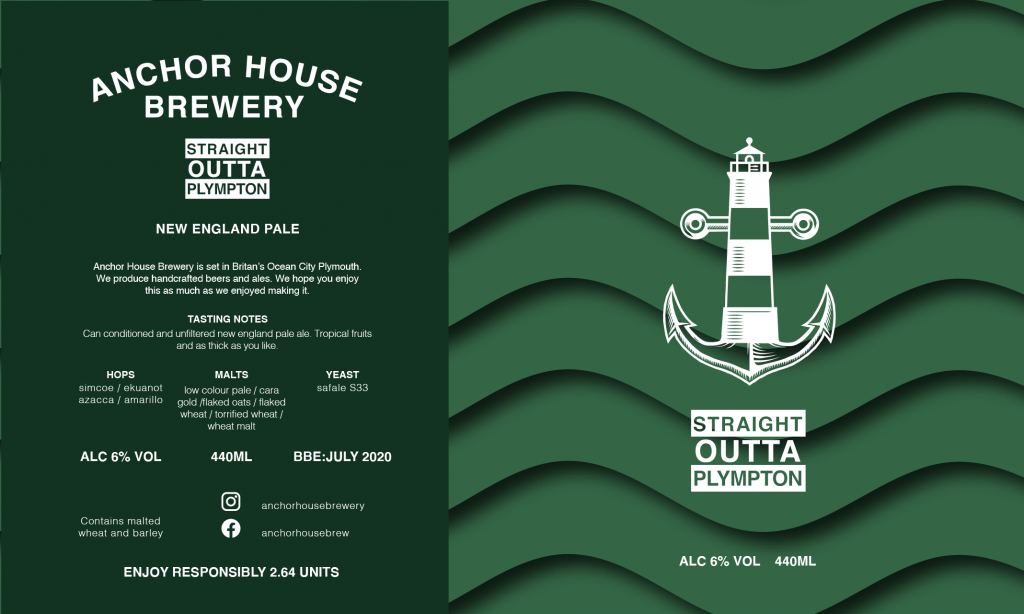 Anchorhouse Brewery Beer Label