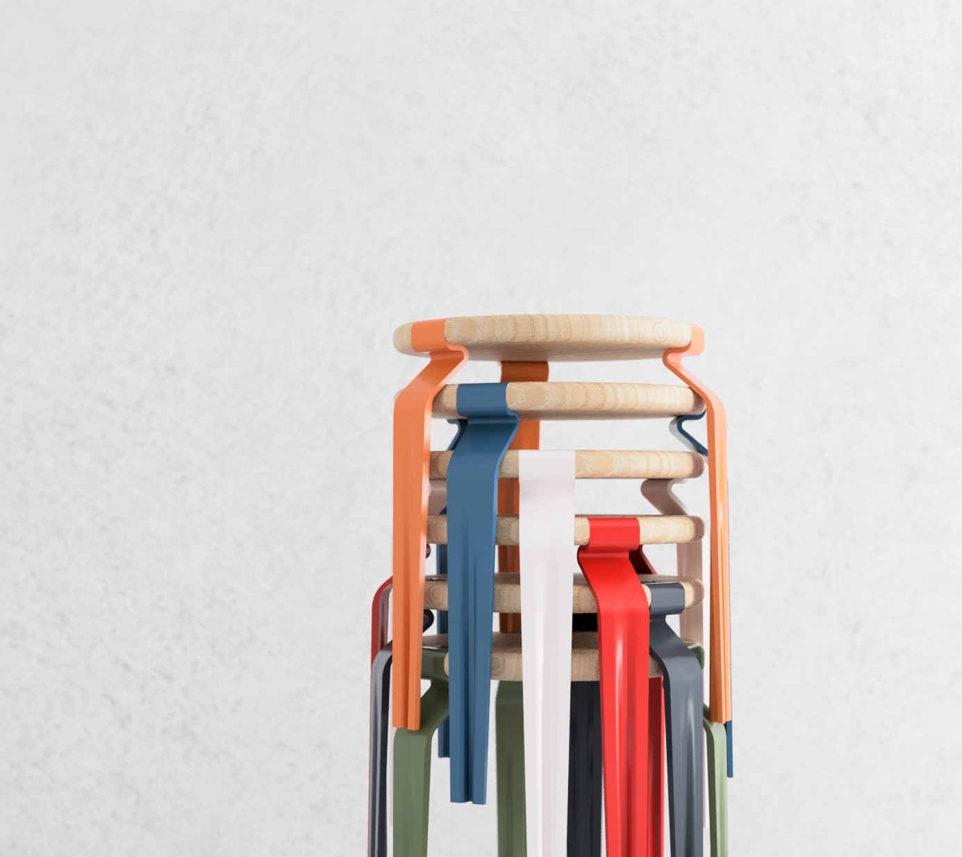 'Groov' Stacking Stools