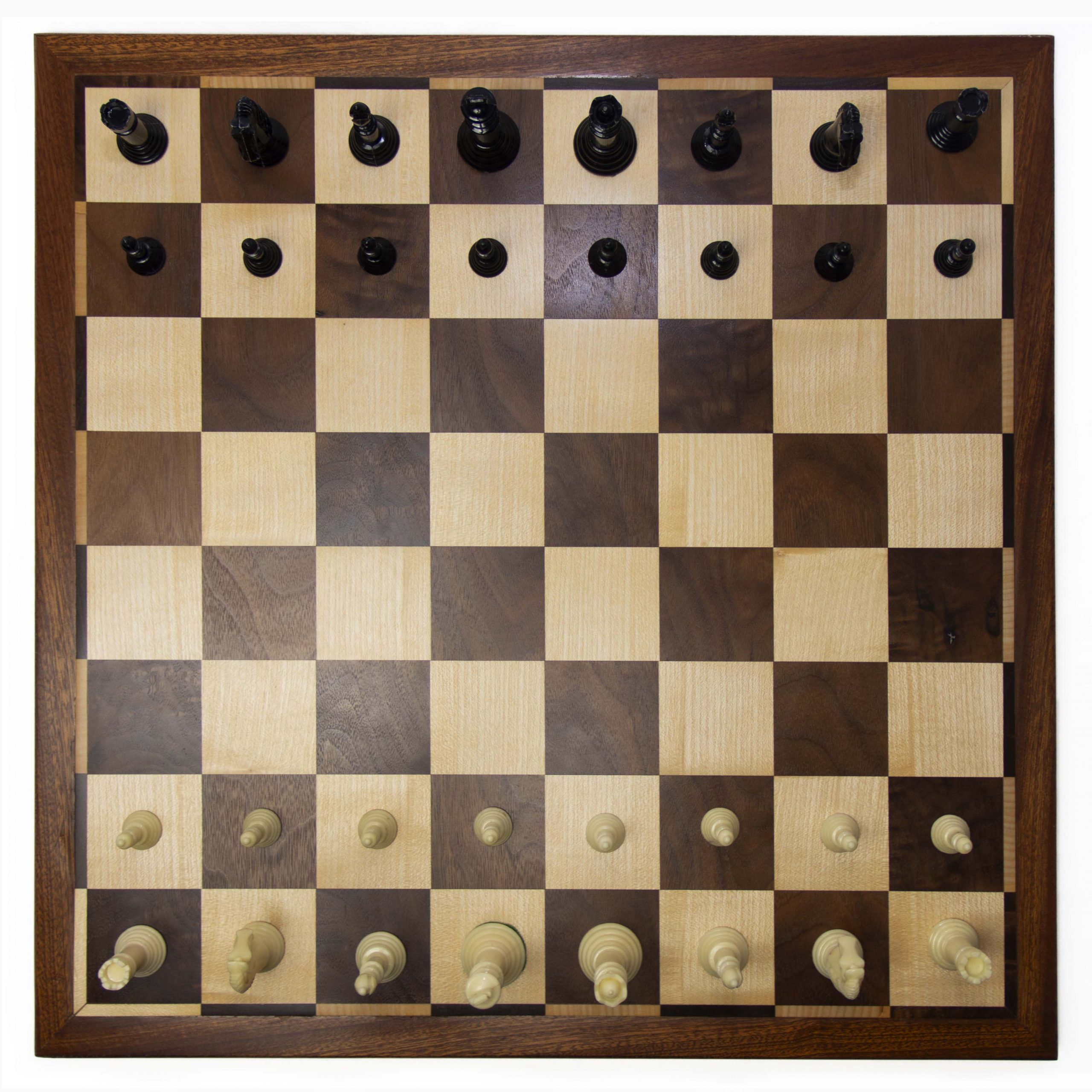 Walnut and Sycamore solid-wood pattern Chess Board (2019)