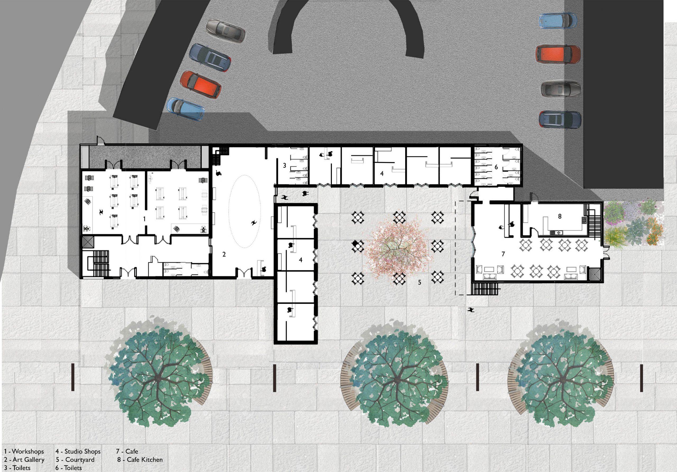 Gateway Craft Centre - Ground Floor Plan