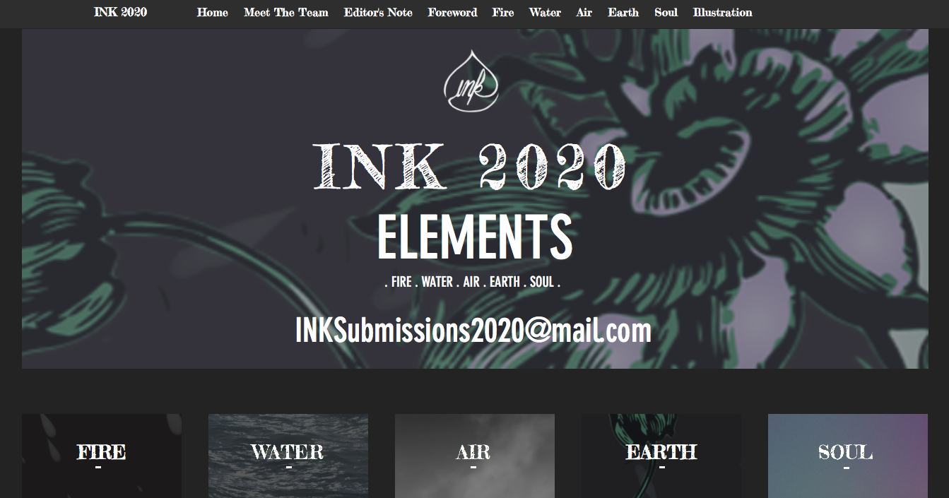 Creator and Editor-in-Chief of INK 2020: Elements (Website)