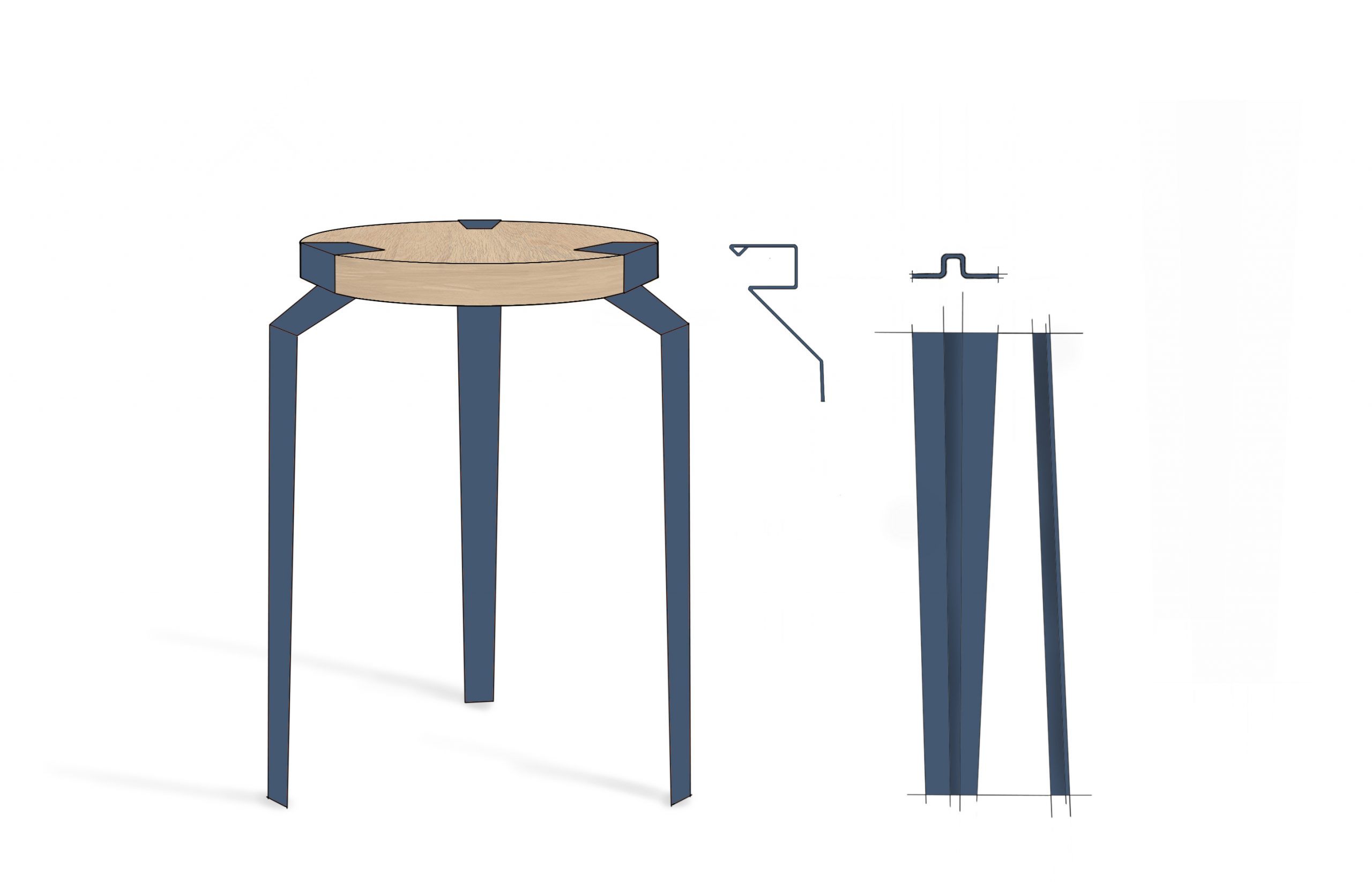 Sketch of 'Groov' Stool