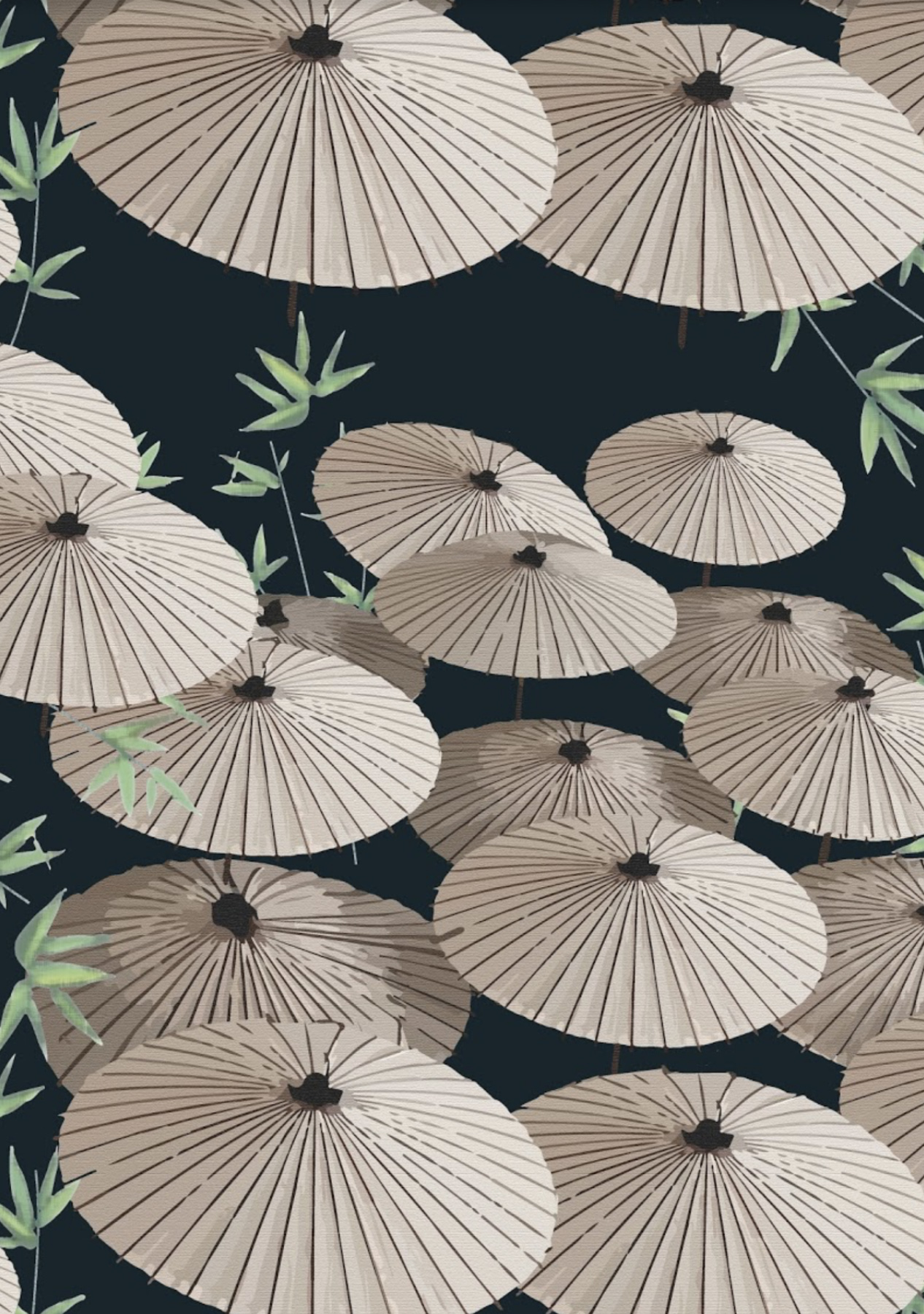 The KUKU Collection, 'Wagasa' surface pattern in navy