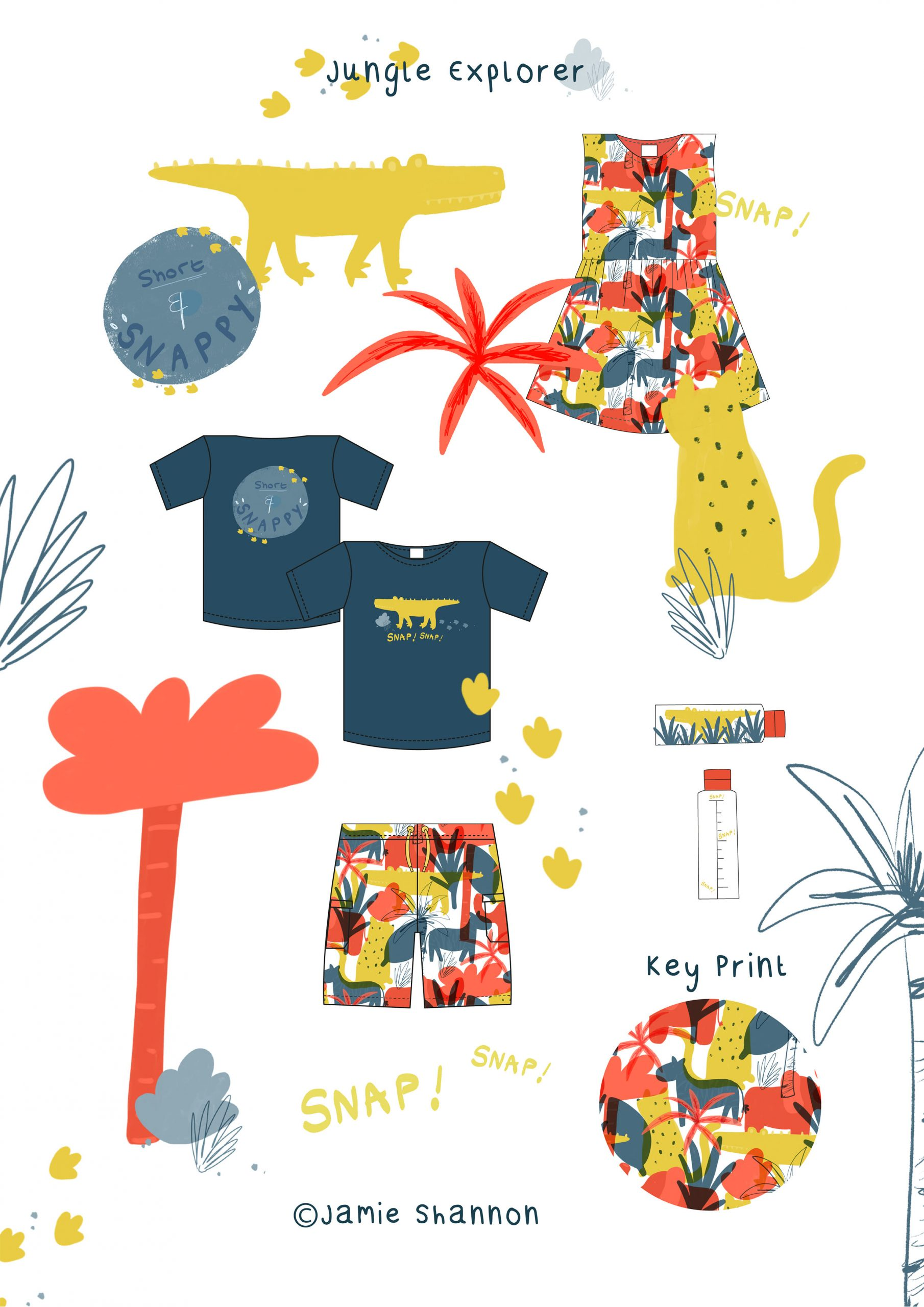 CAD Outfit and Jungle Surface Pattern for Kids
