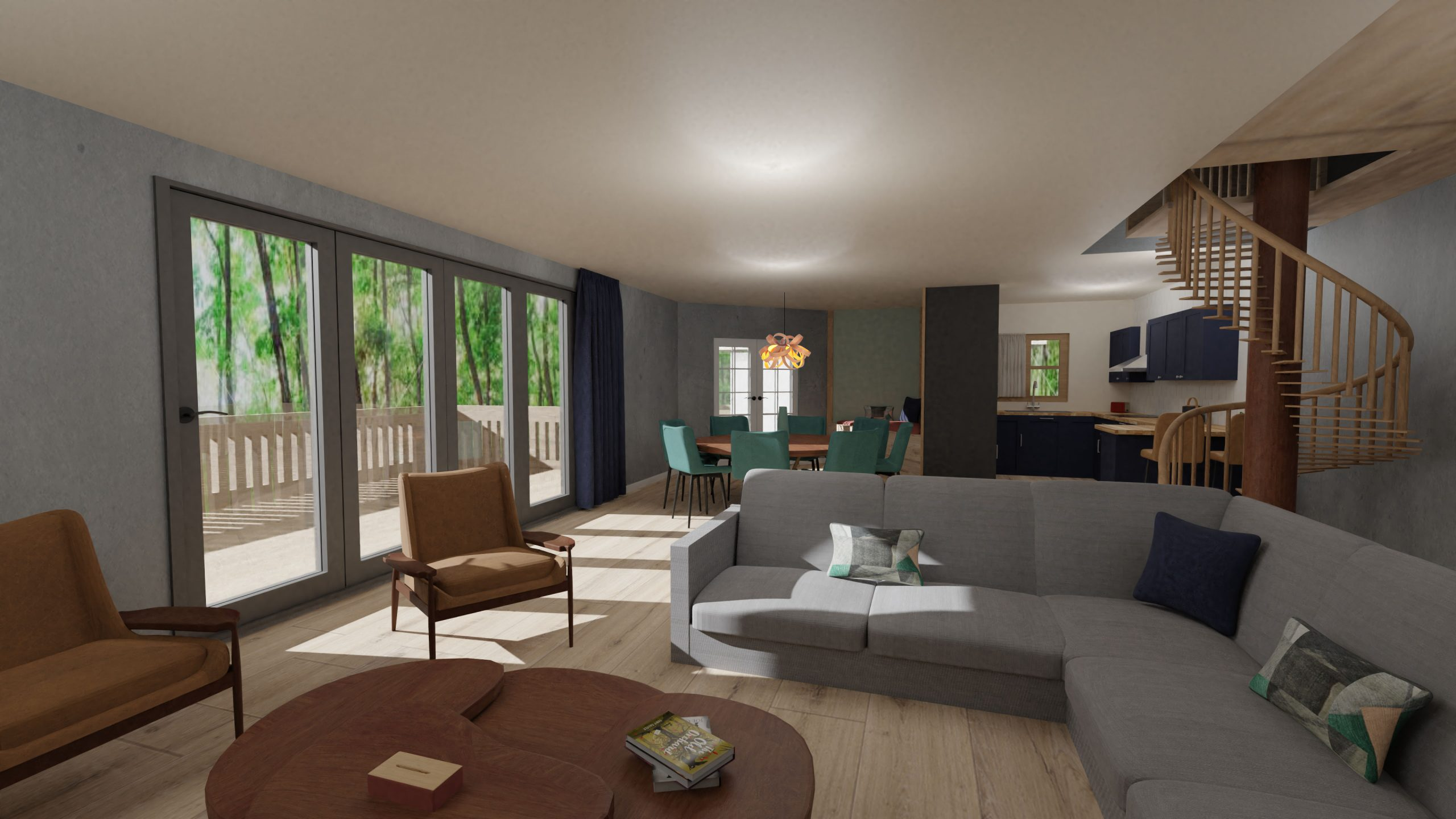 Treehouse Retreat- Final Major Project- Lounge/Dining