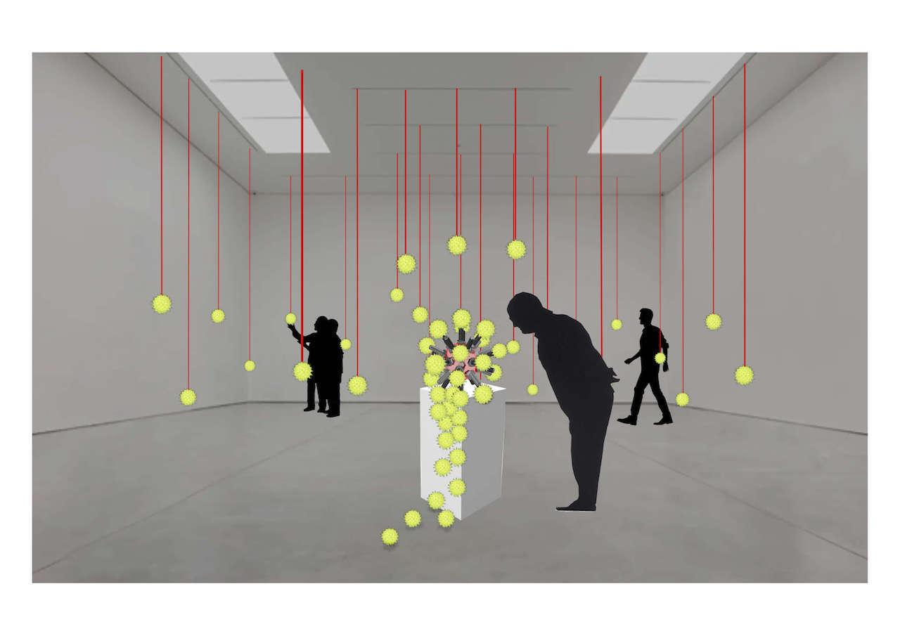 Covid-19 digital visualisation of installation