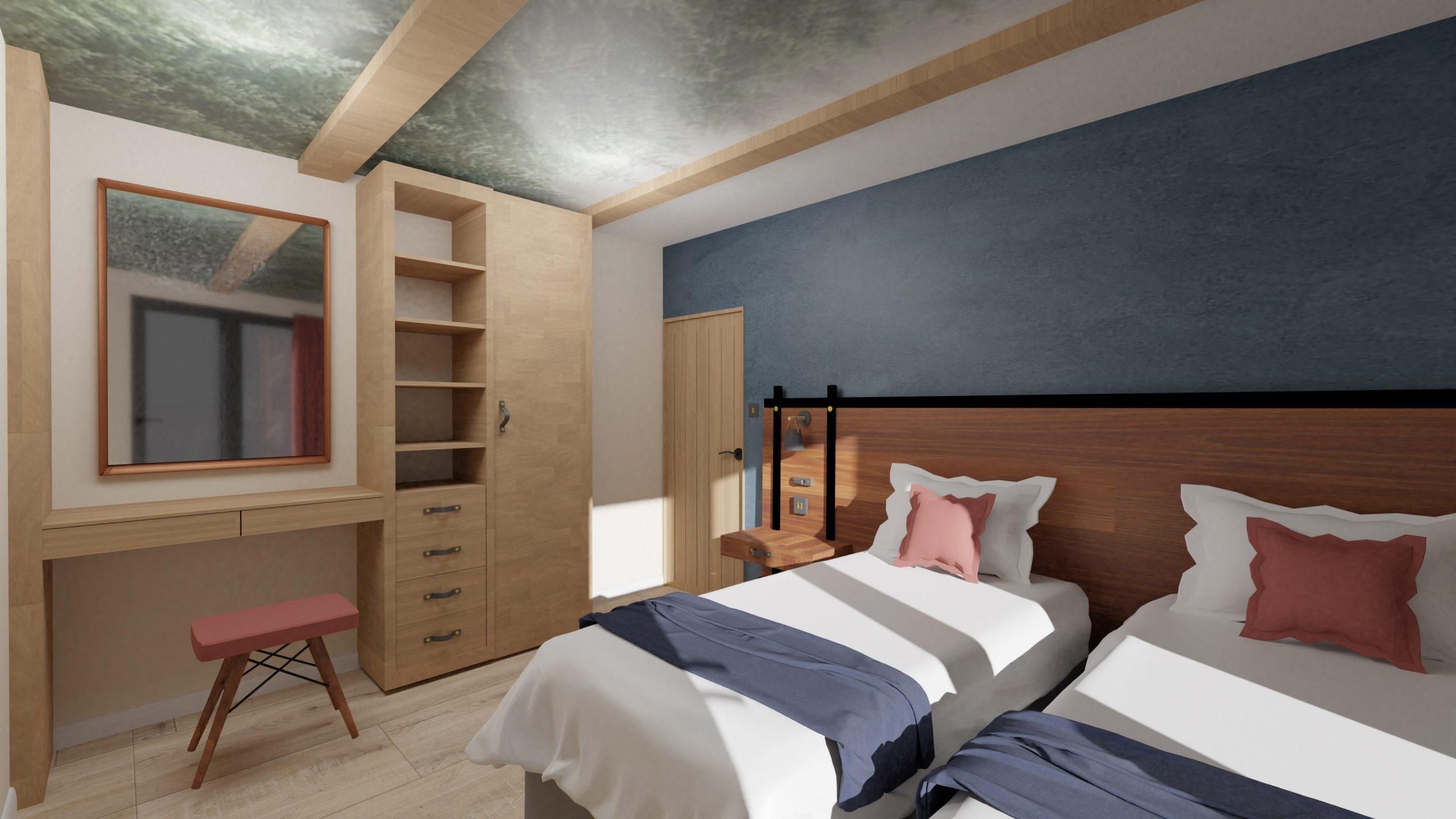 Treehouse Retreat- Final Major Project- Twin Bedroom
