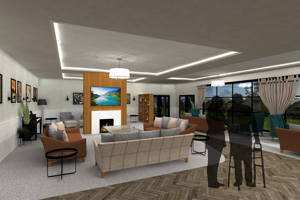 Designing with Care: Rethinking Interior Spaces within Residential Care Homes (Living Room)