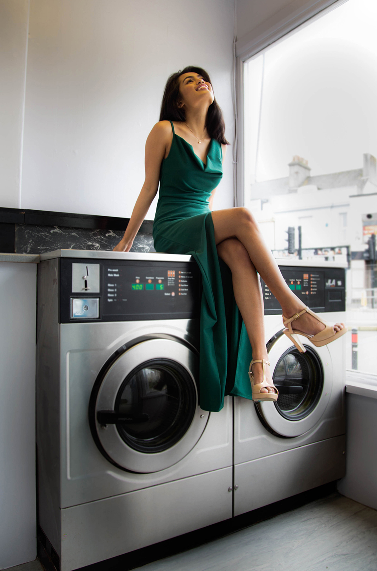 Formal Gowns in Unusual locations