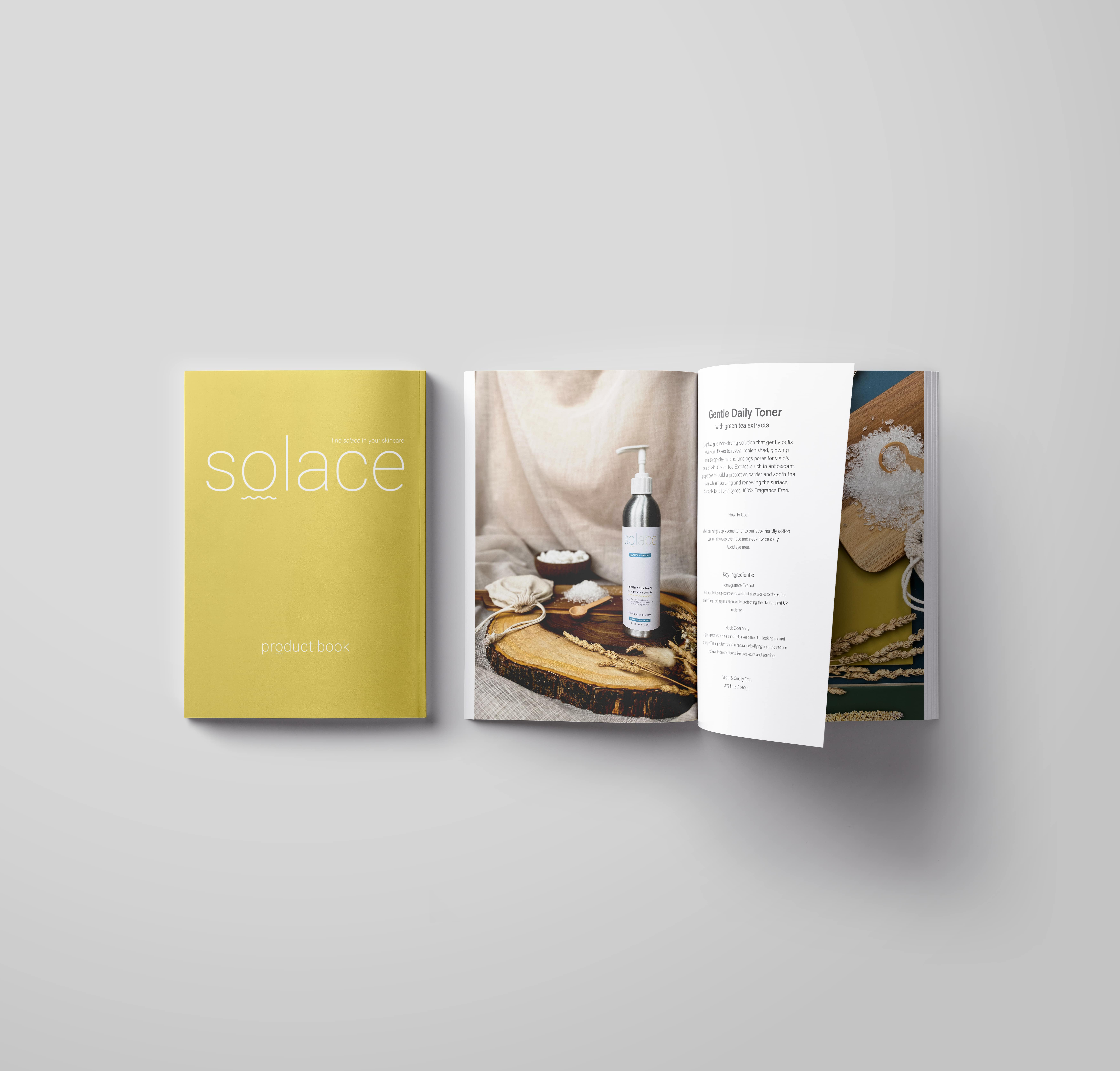 Solace Skincare Product Book