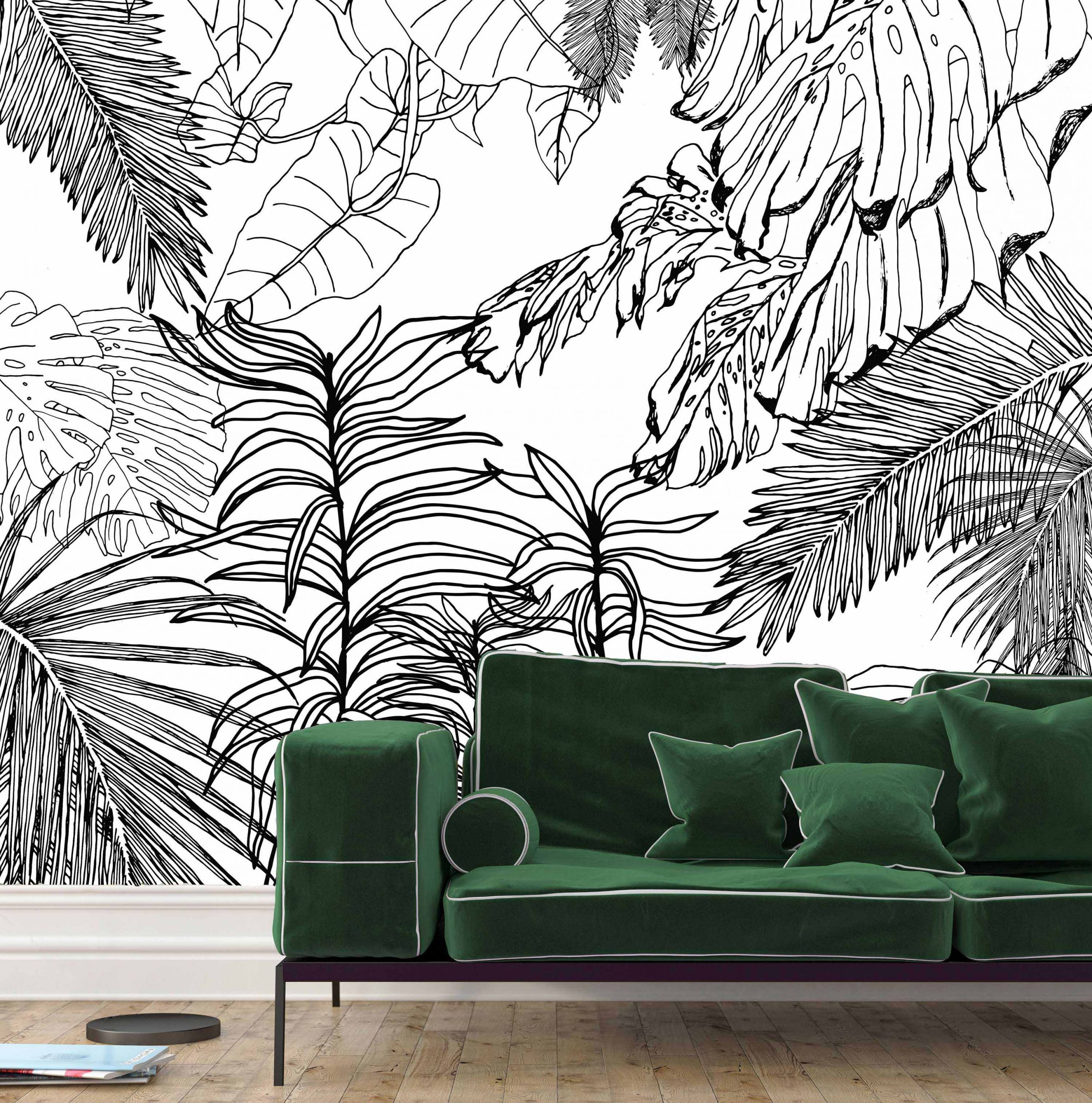 Palm Simplicity flock wall mural