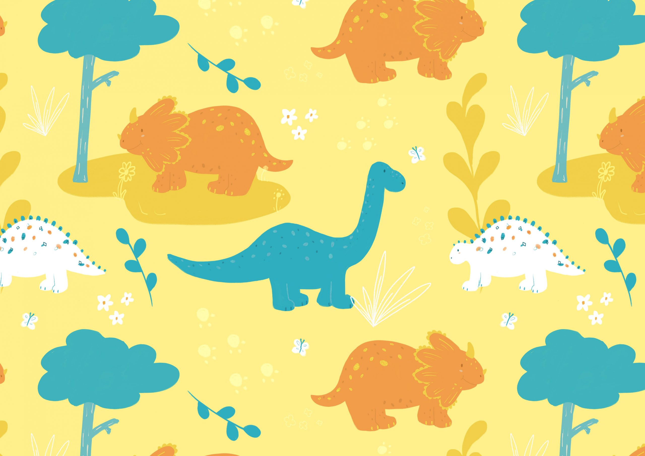 Dino Excursion Surface Pattern for Babies
