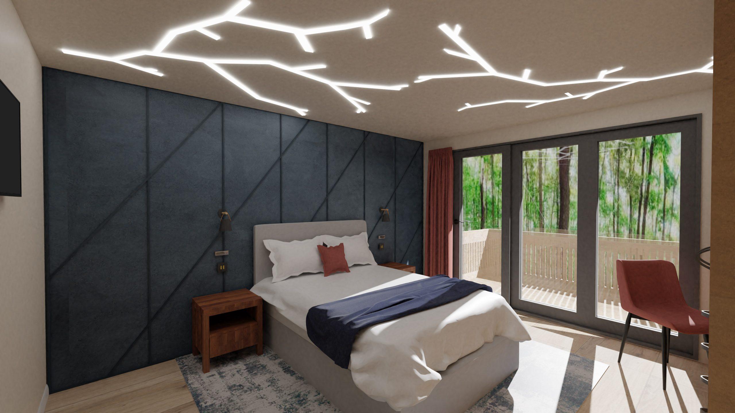Treehouse Retreat- Final Major Project-Master Bedroom