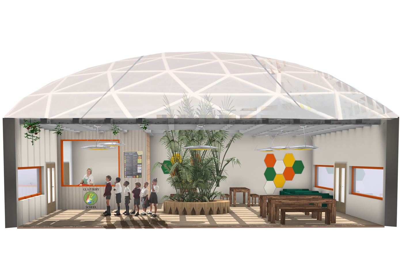 Redesigning Special Educational Needs Schools focusing on User Well Being (Dining Hall)
