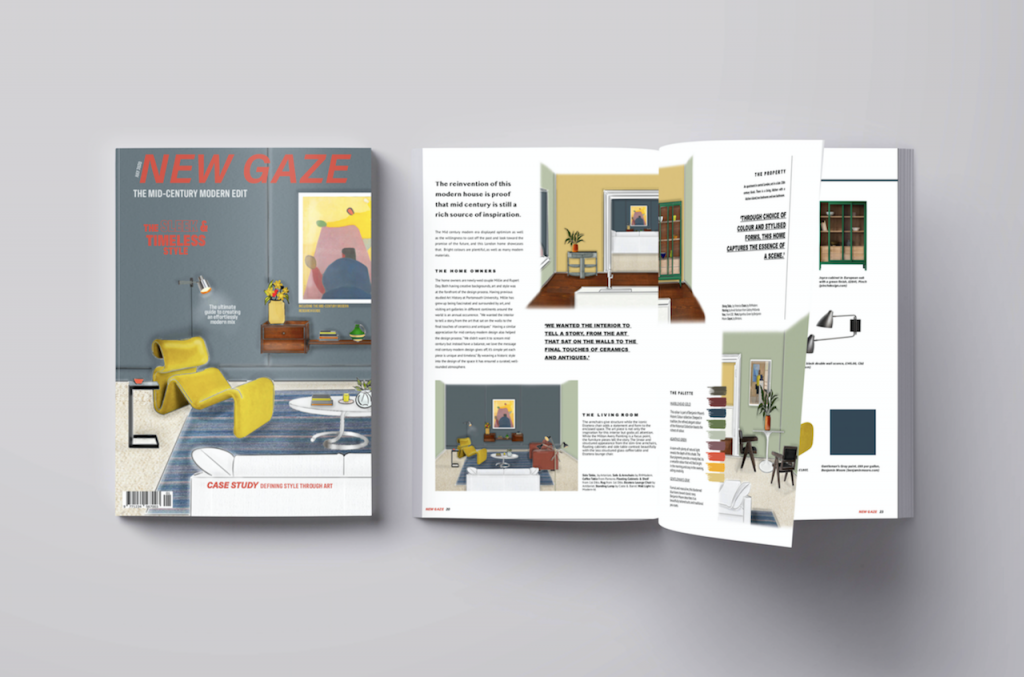 'New Gaze' Mid-Century Modern Magazine Design
