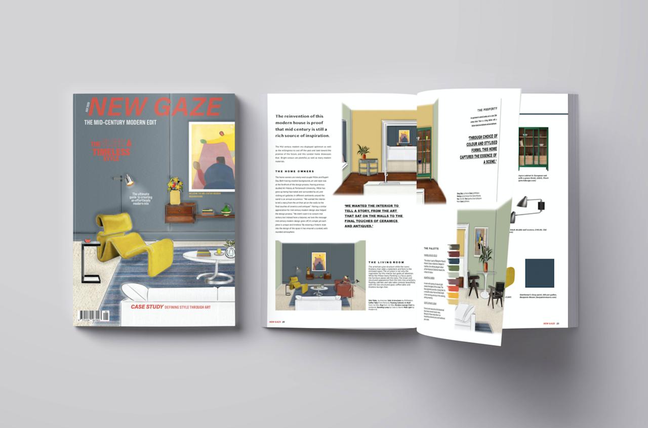 'New Gaze' Mid-Century Modern Magazine Design