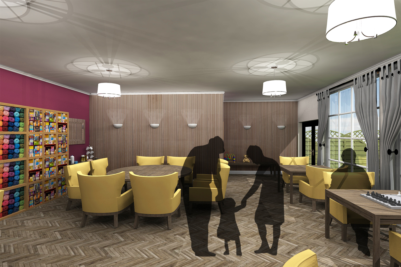 Designing with Care: Rethinking Interior Spaces within Residential Care Homes (Activities Room)