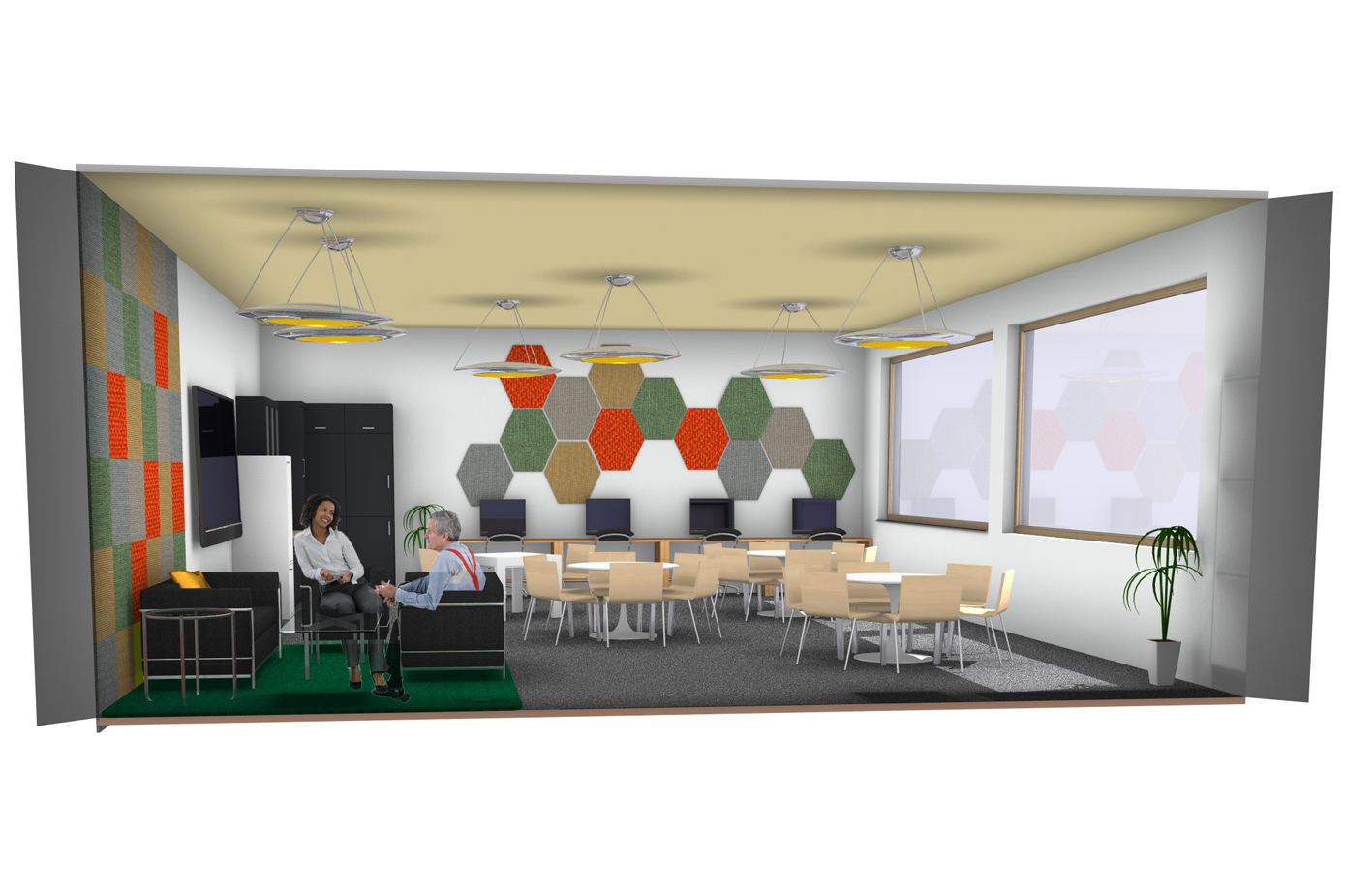 Redesigning Special Educational Needs Schools focusing on User Well Being (Staff Room)