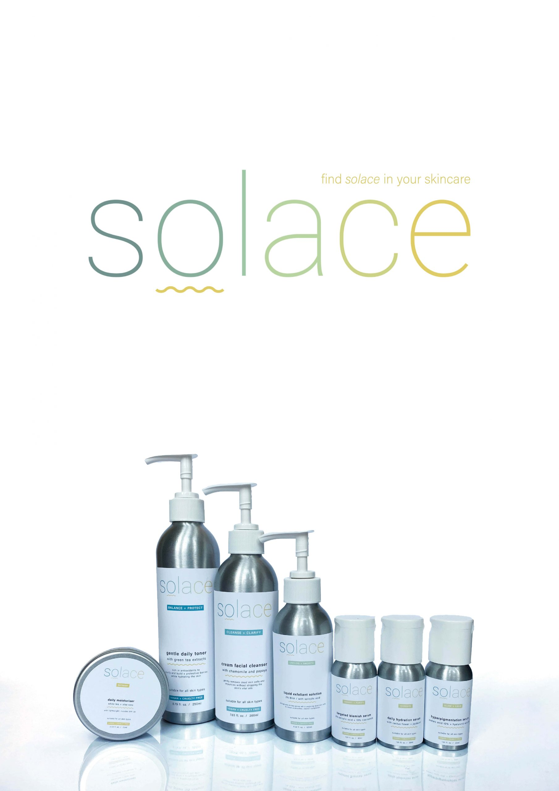 Solace Skincare Packaging