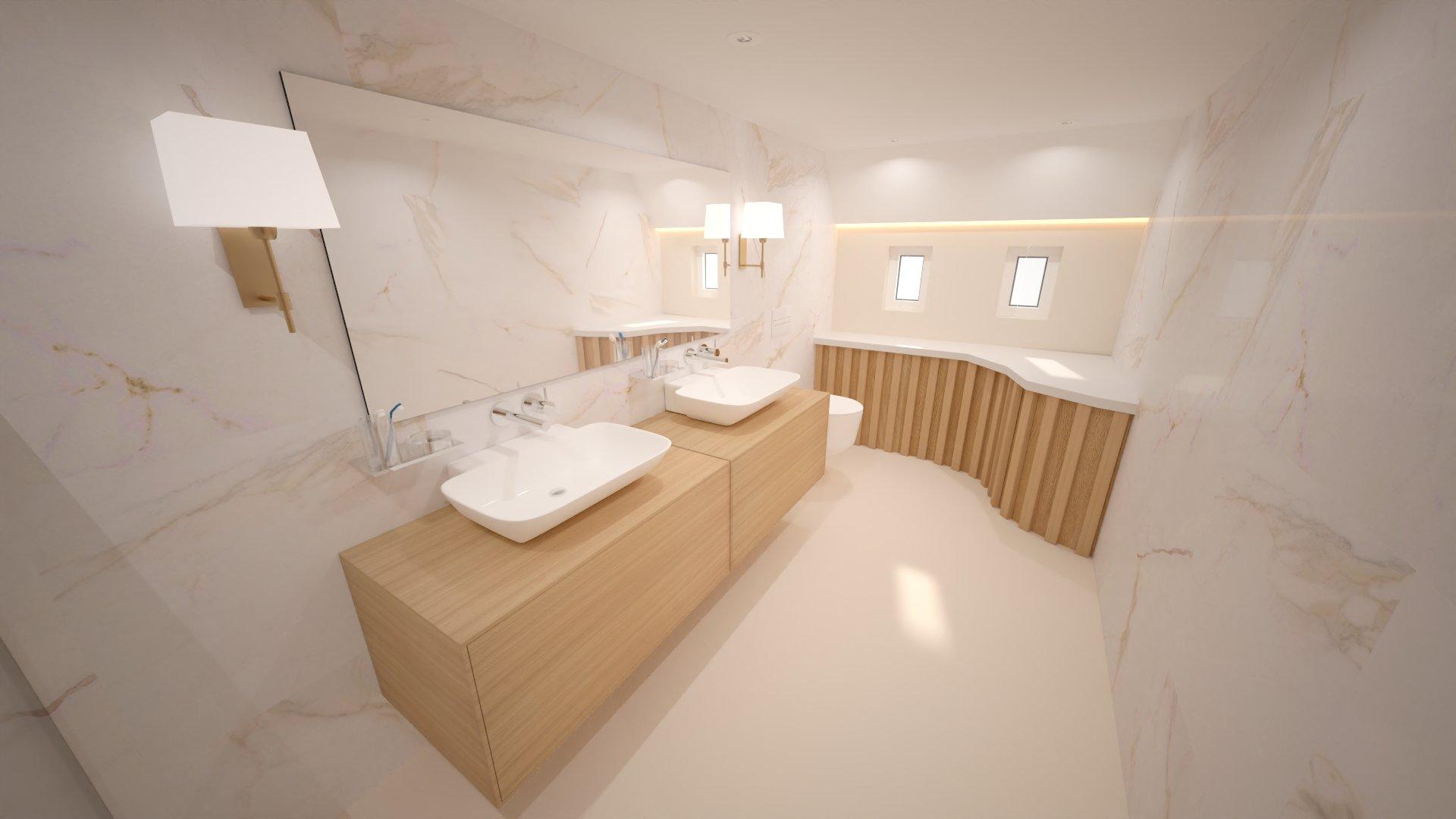 Airbus A350 XWB Family Aircraft - Master Bathroom