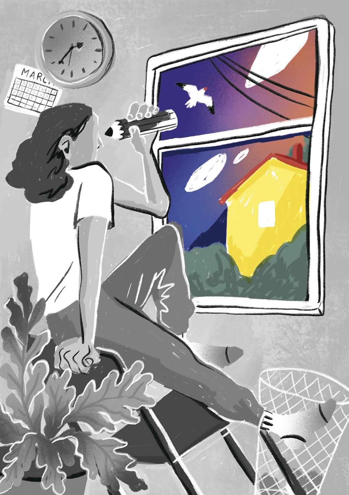 Life as an Illustrator during Quarantine