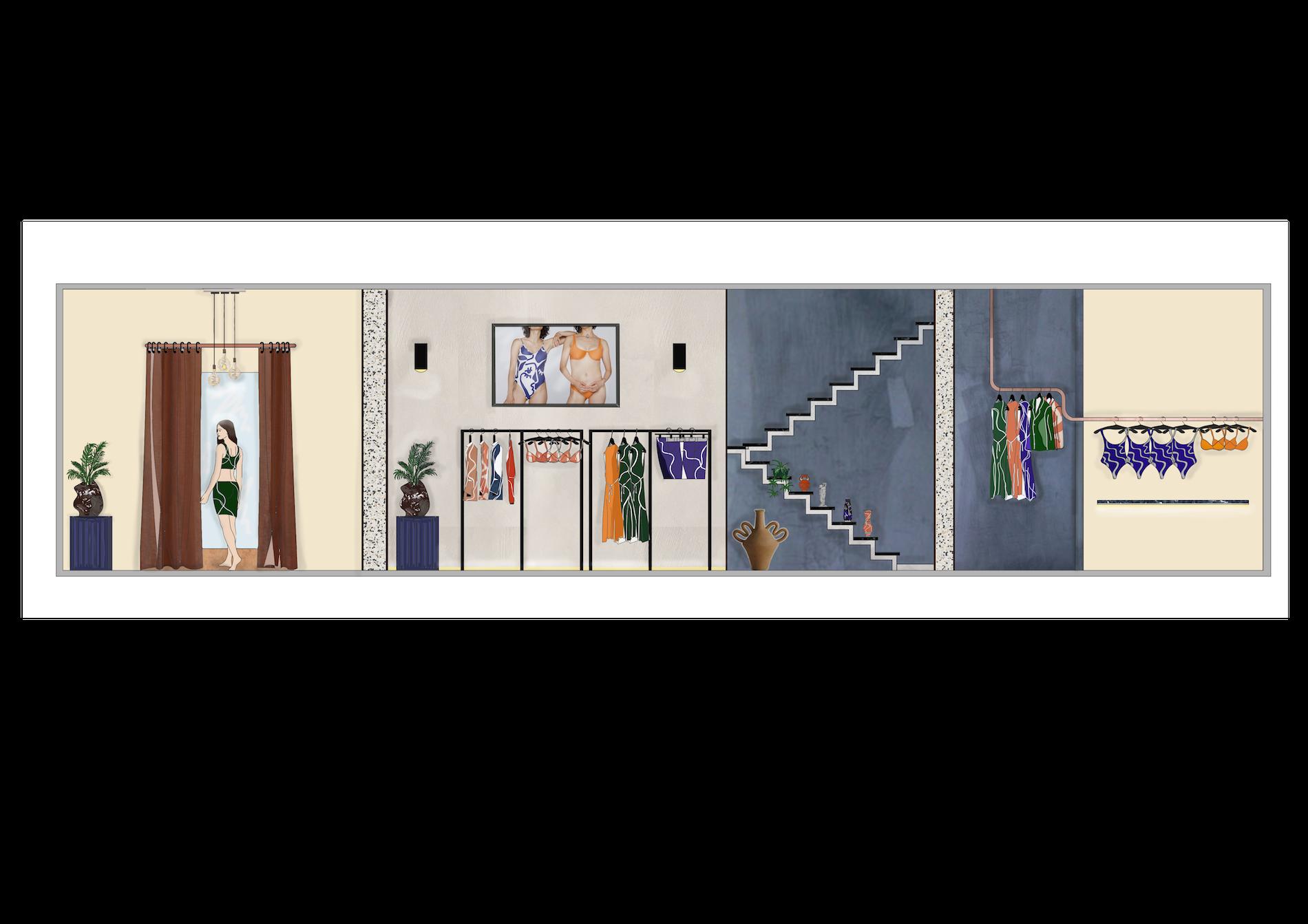Bower Retail Design - Rendered Elevation