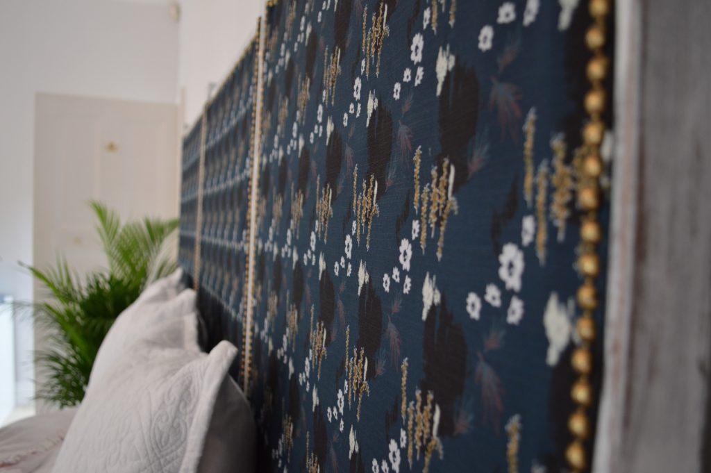 Japanese inspired re-upholstered folding screen