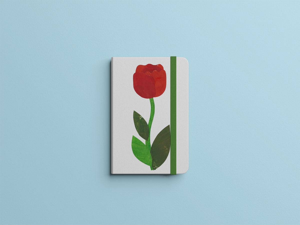 Tulips illustration mock up