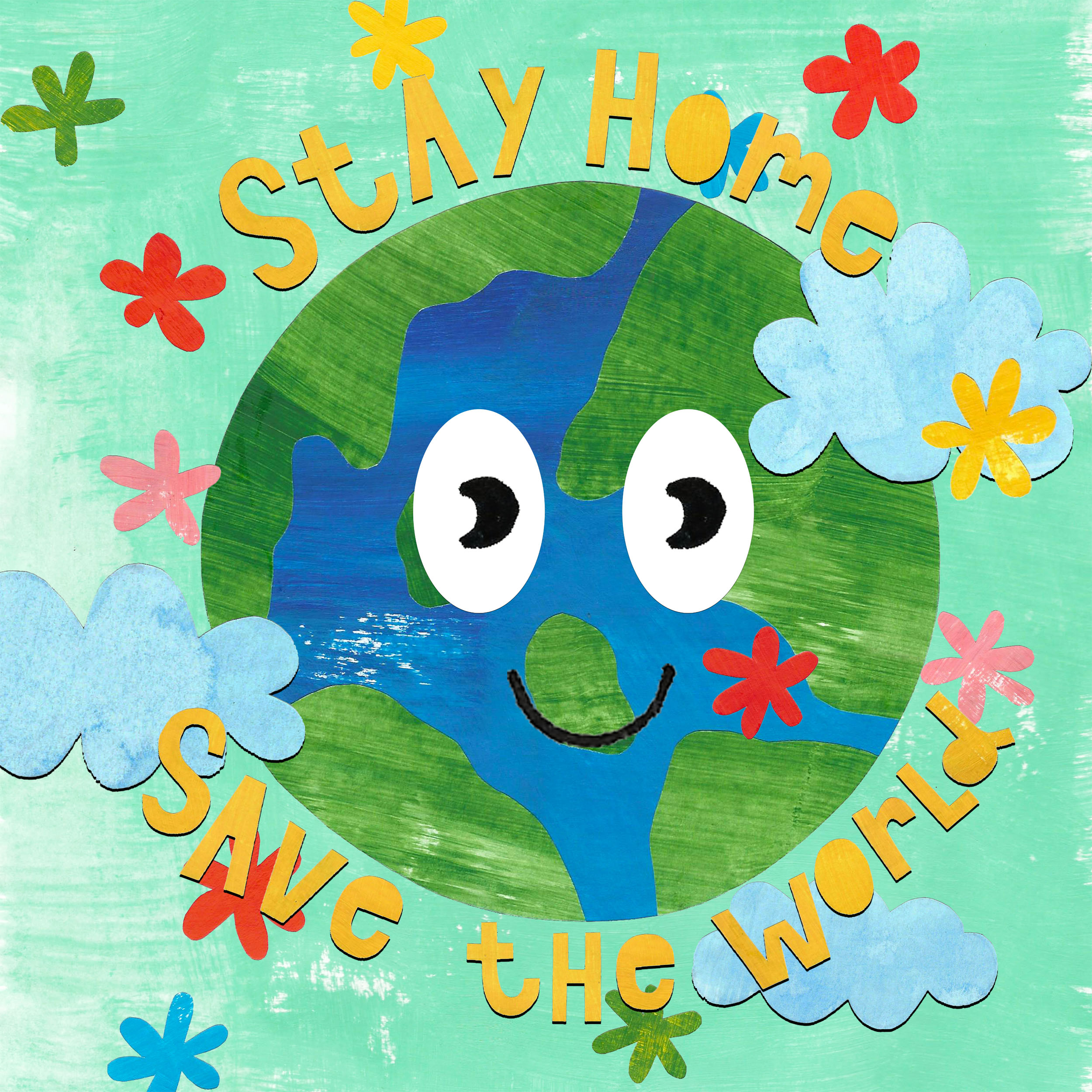 Stay home, save the world cover