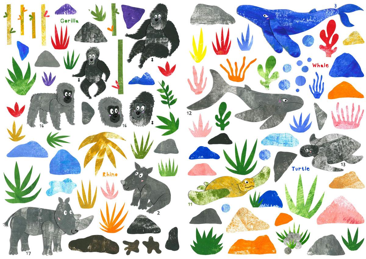 Explore conservation sticker sheet