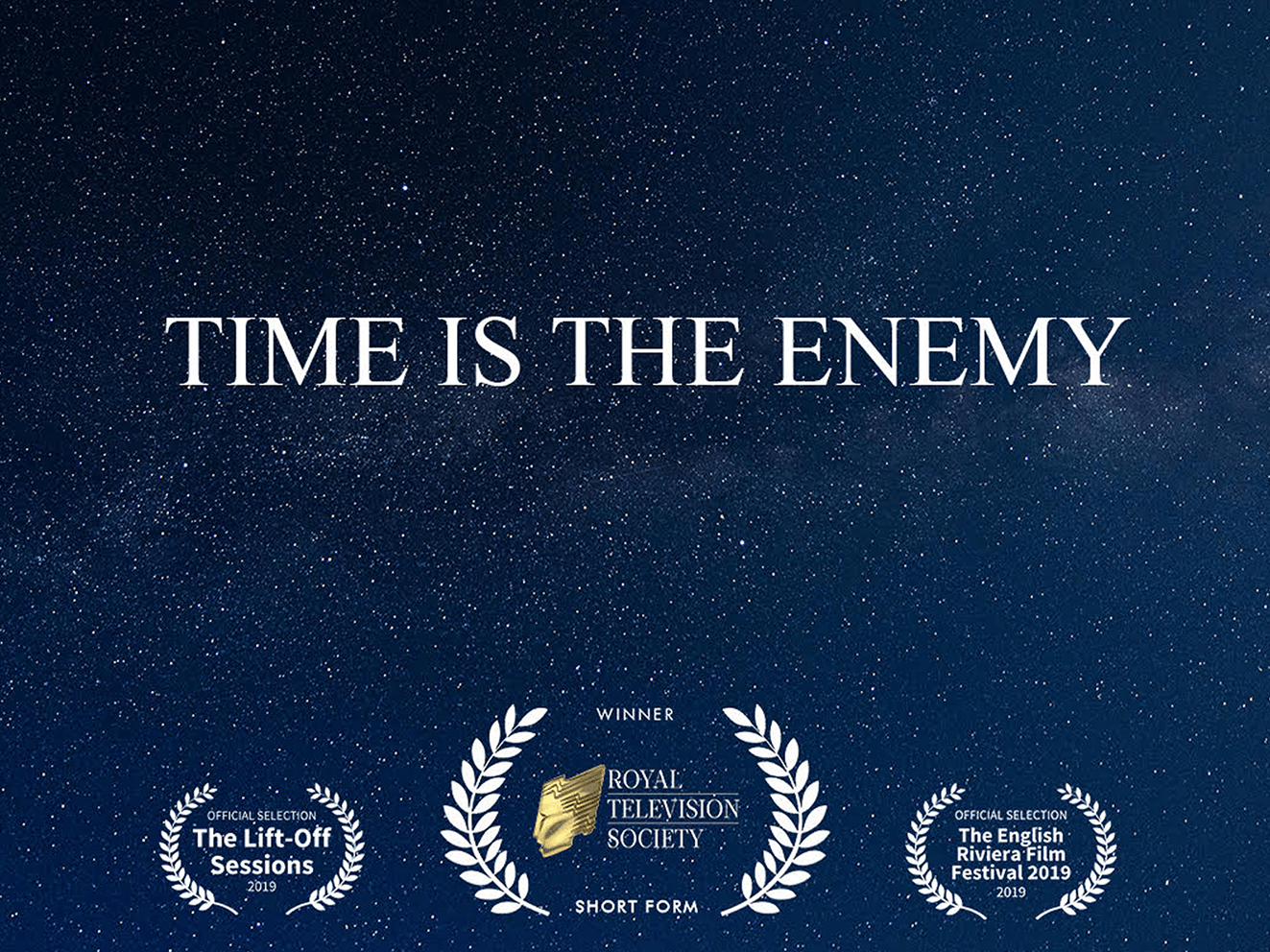 The poster for 'Time Is The Enemy'