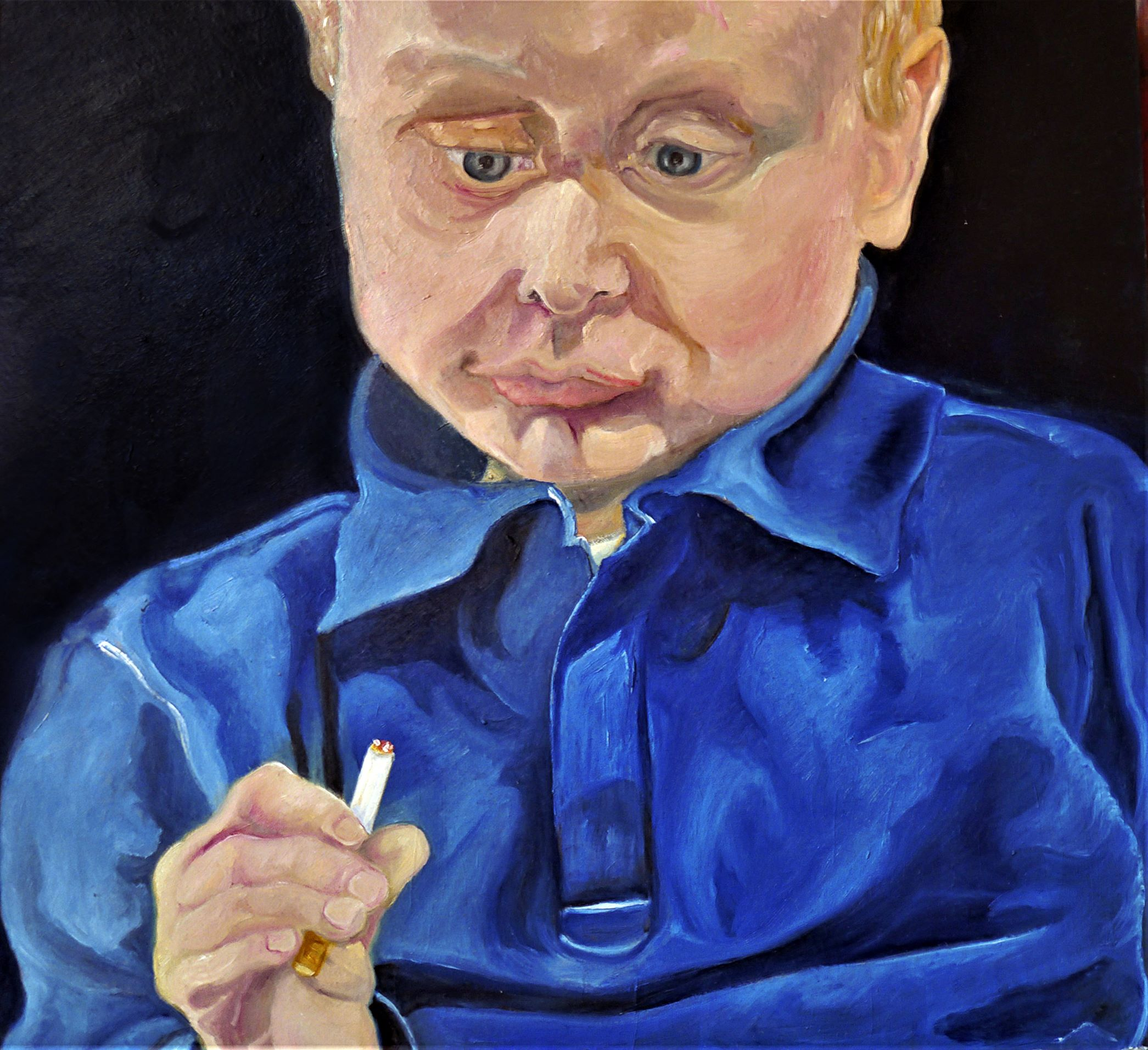 You can't teach an old dog new tricks but you can teach a baby to smoke sticks
