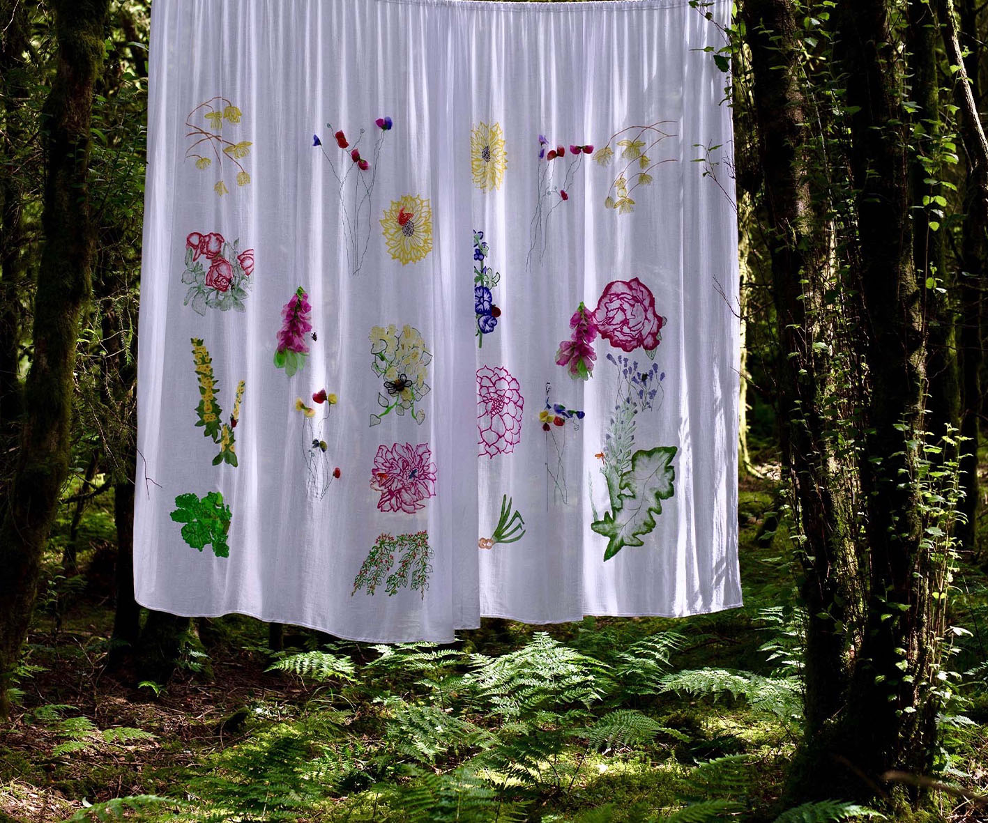 Whimsical Cottage Garden Drapes forward view