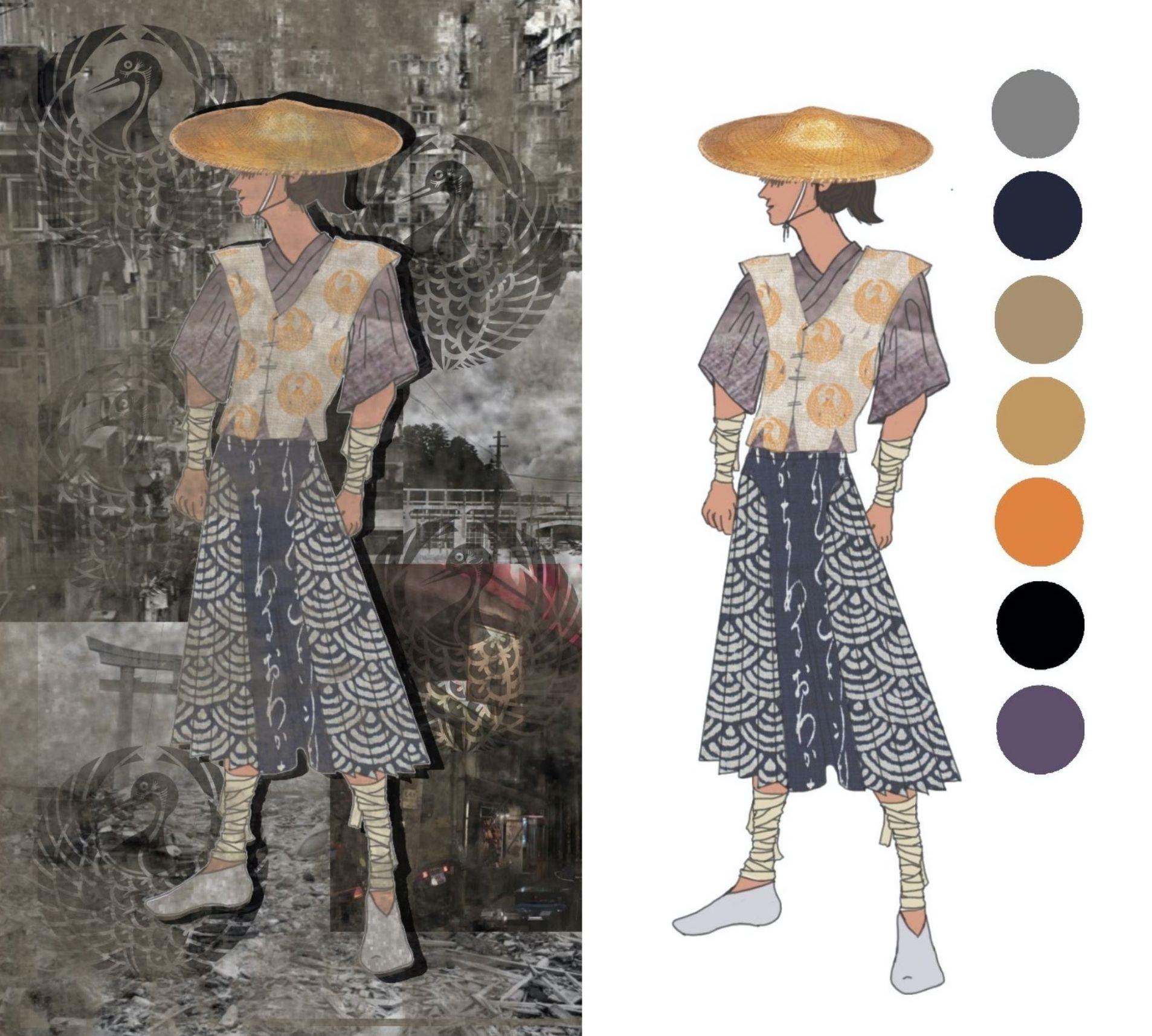 Costume design for Duke Vincentio