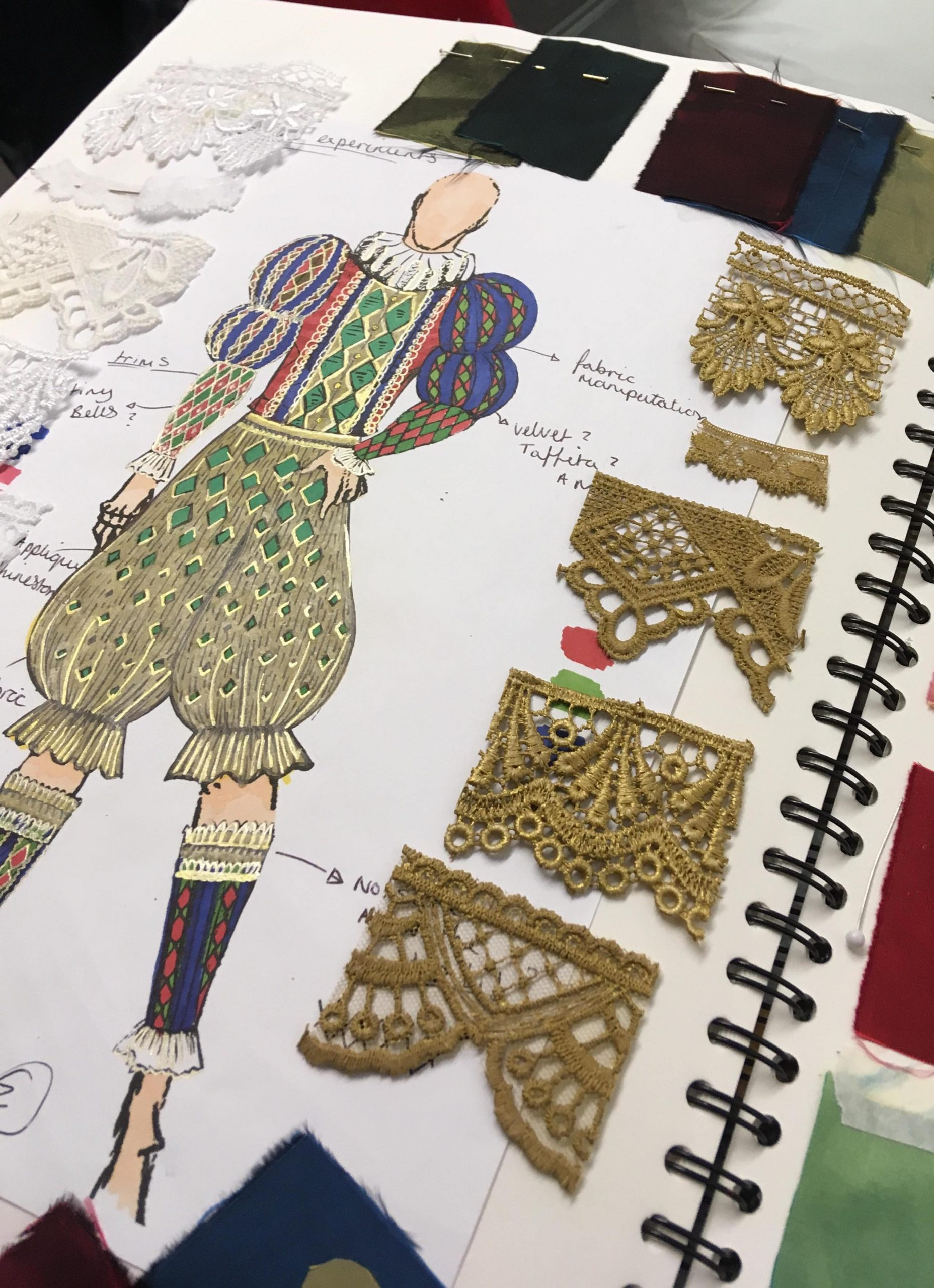 Final costume design and samples