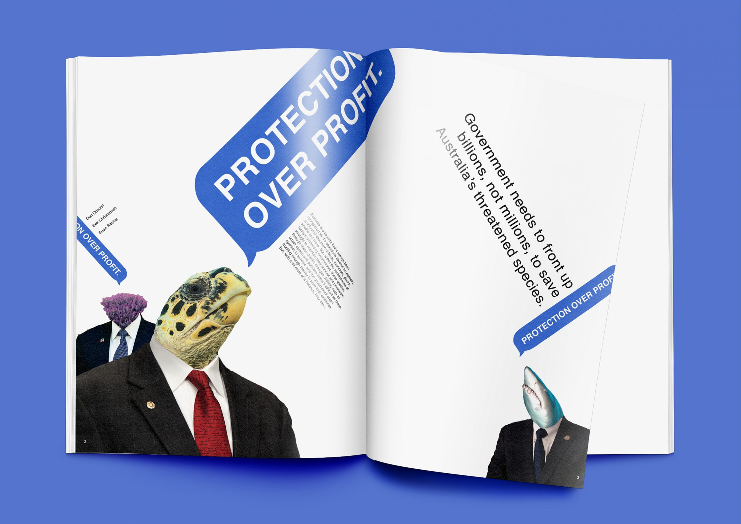 Protection Over Profit Magazine