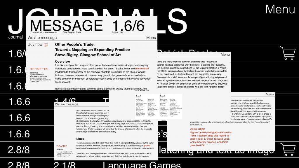 Message Journal Website