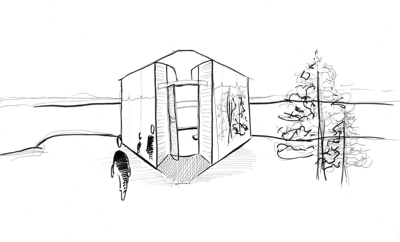 Over View Sketch - Kielder Belvedere