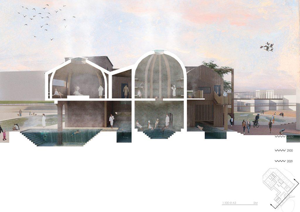 Short Section // Inverted Bathhouse