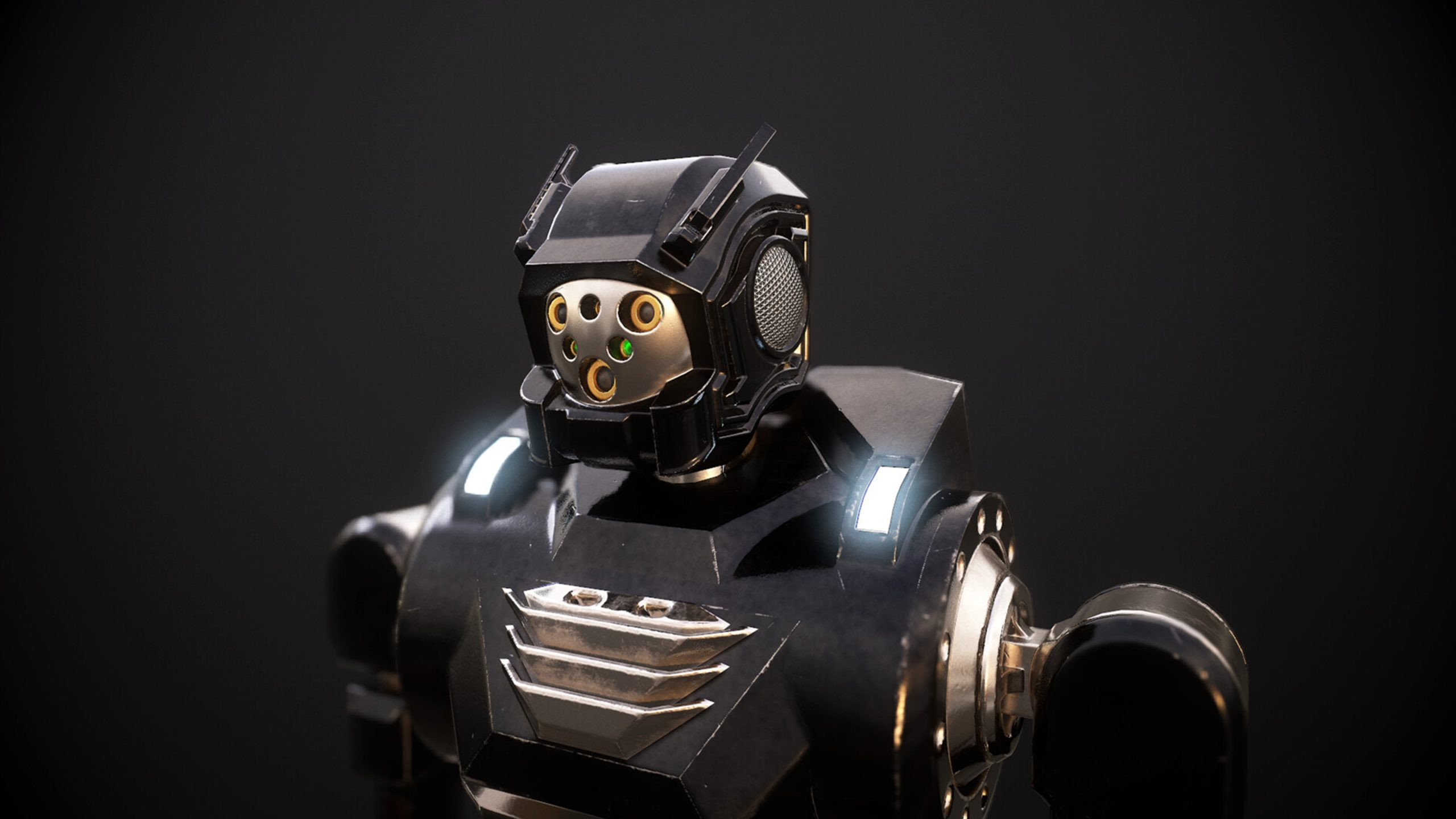 Shot rendered in Marmoset Toolbag, robot creation in Blender, ZBrush, Substance Painter