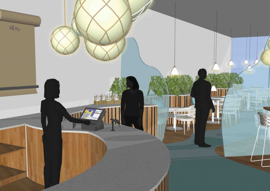 Cafe Visual for a wellness studio at Royal William Yard