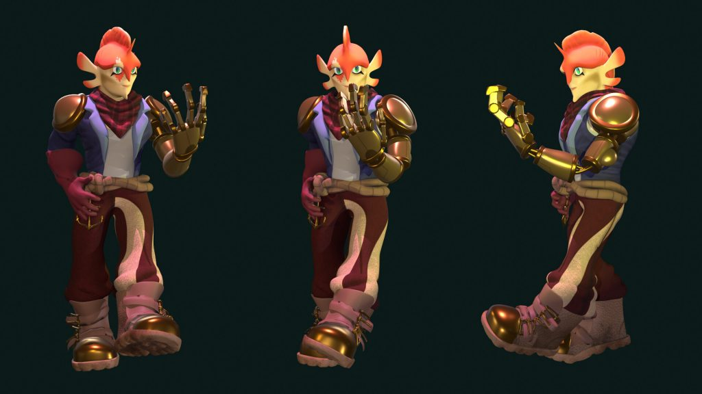 Koi Character Render