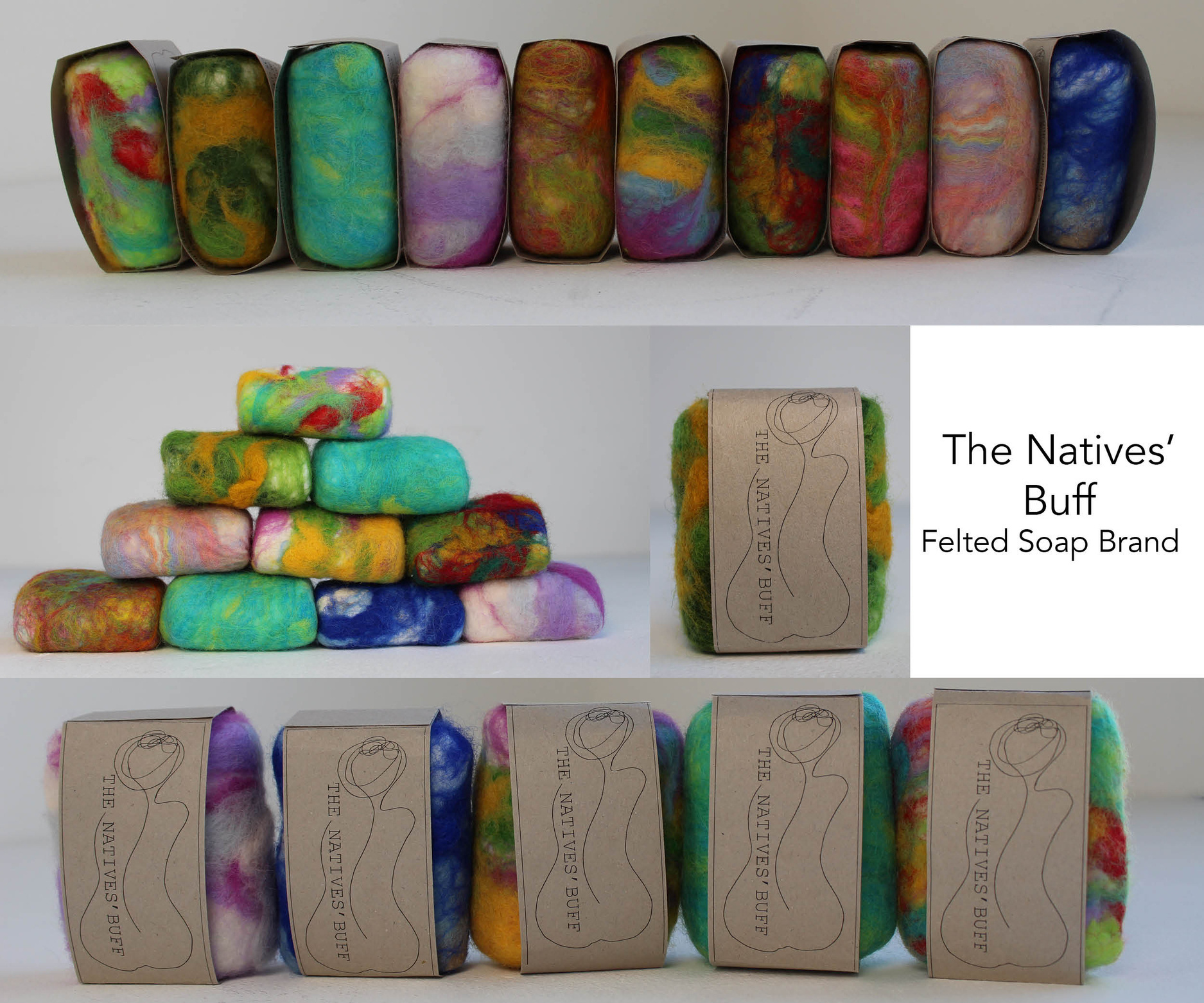 The Natives' Buff - Felted Soap Brand