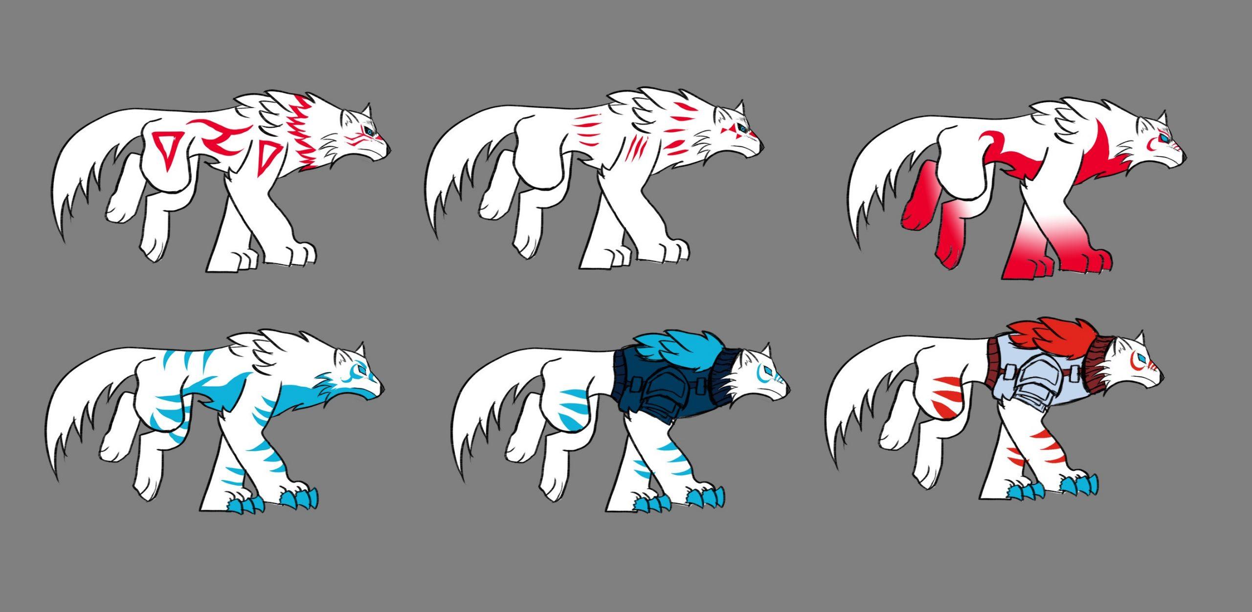 Red Moon - Wolves Colour Scheme Concept