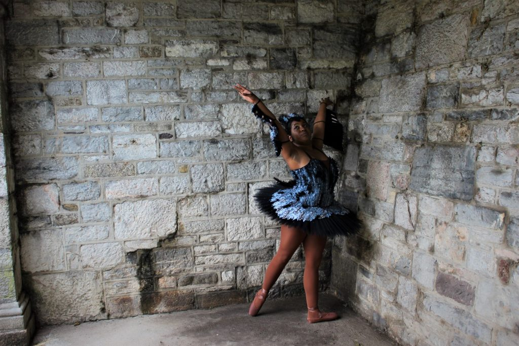 Costume for the character of 'The Caged Bird (Female)' from my original ballet 'Caged Bird'
