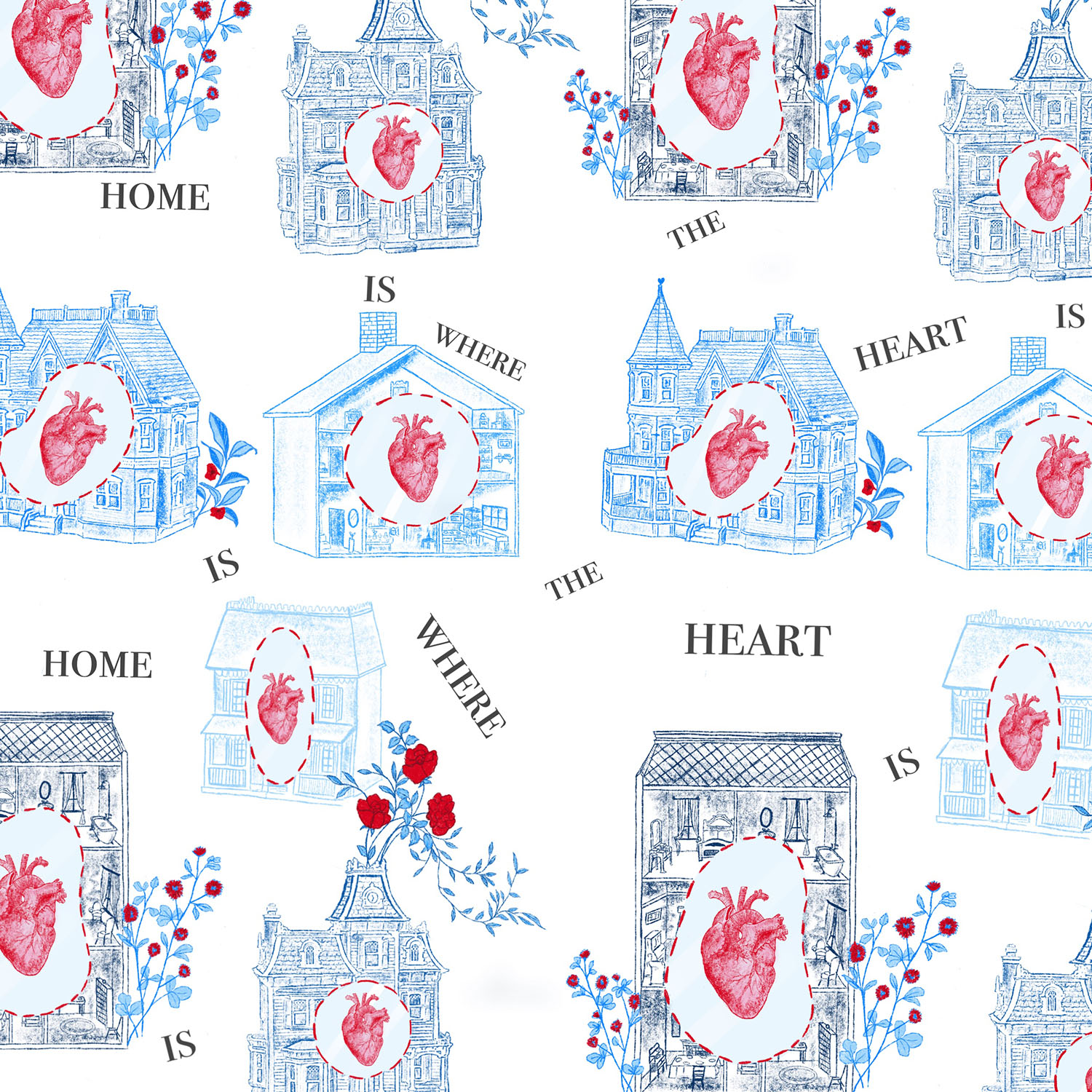 PHRASES OF FLORAL ANATOMY - 'Home is Where the Heart is'
