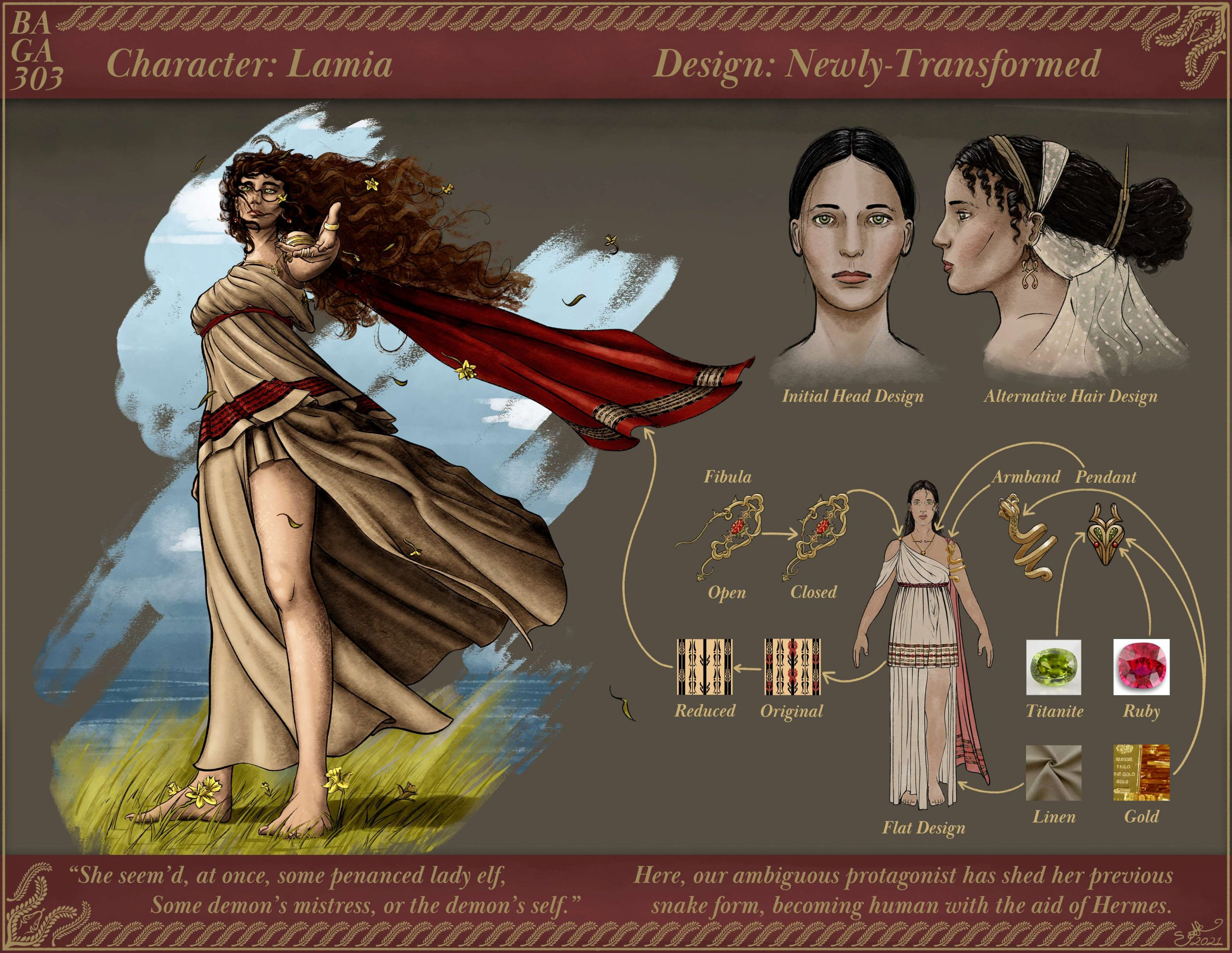 Lamia: Newly-Transformed - Character Design