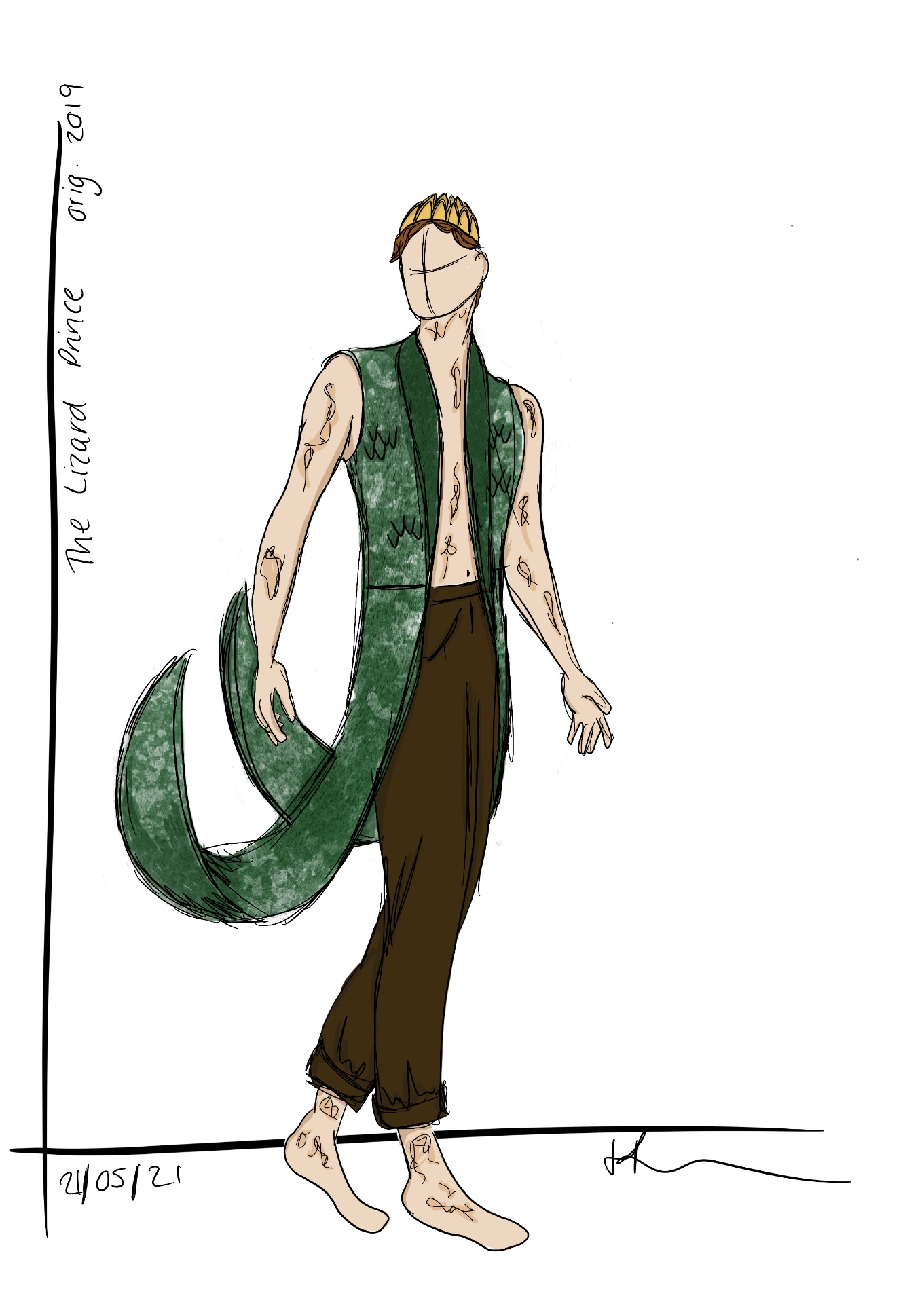 Design for 'The Lizard Prince' from the Carnal of Curiosities