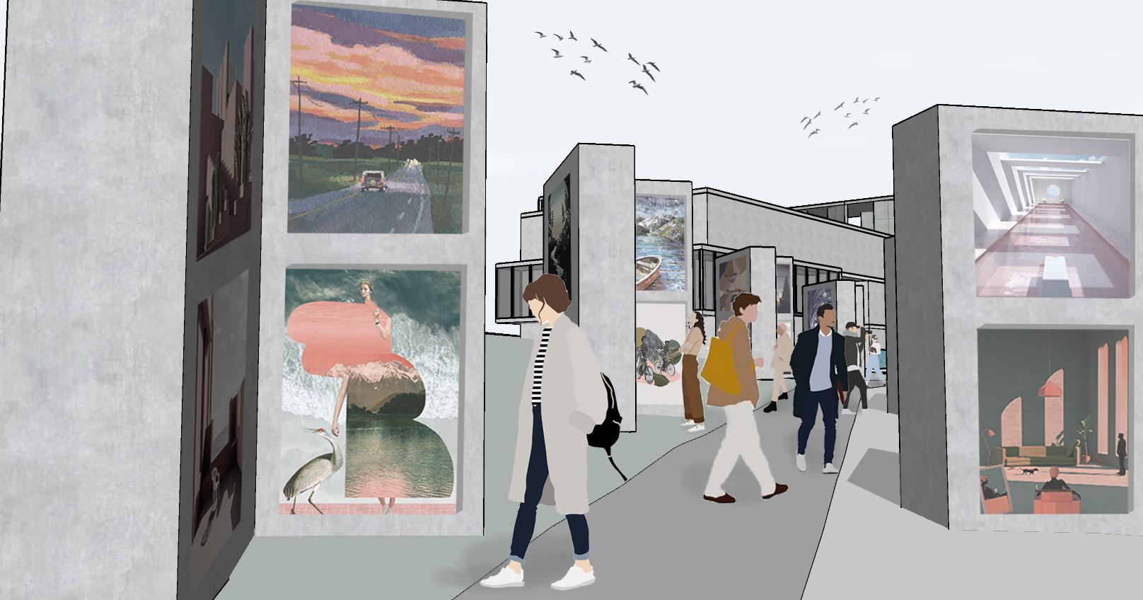 Exhibition Center Mural Lane