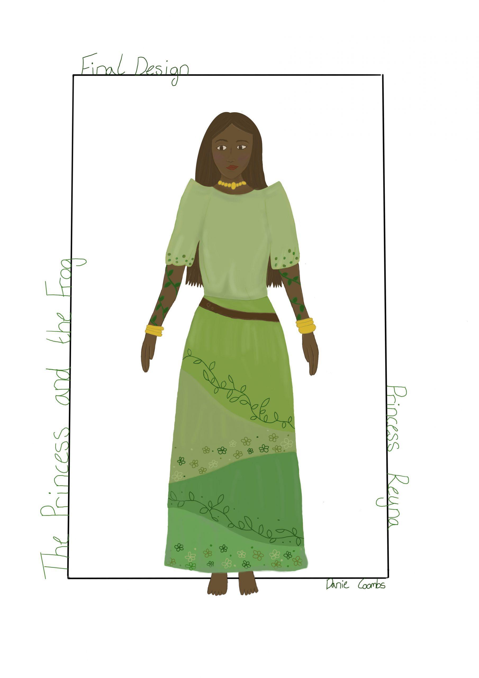 Princess Reyna final digital design
